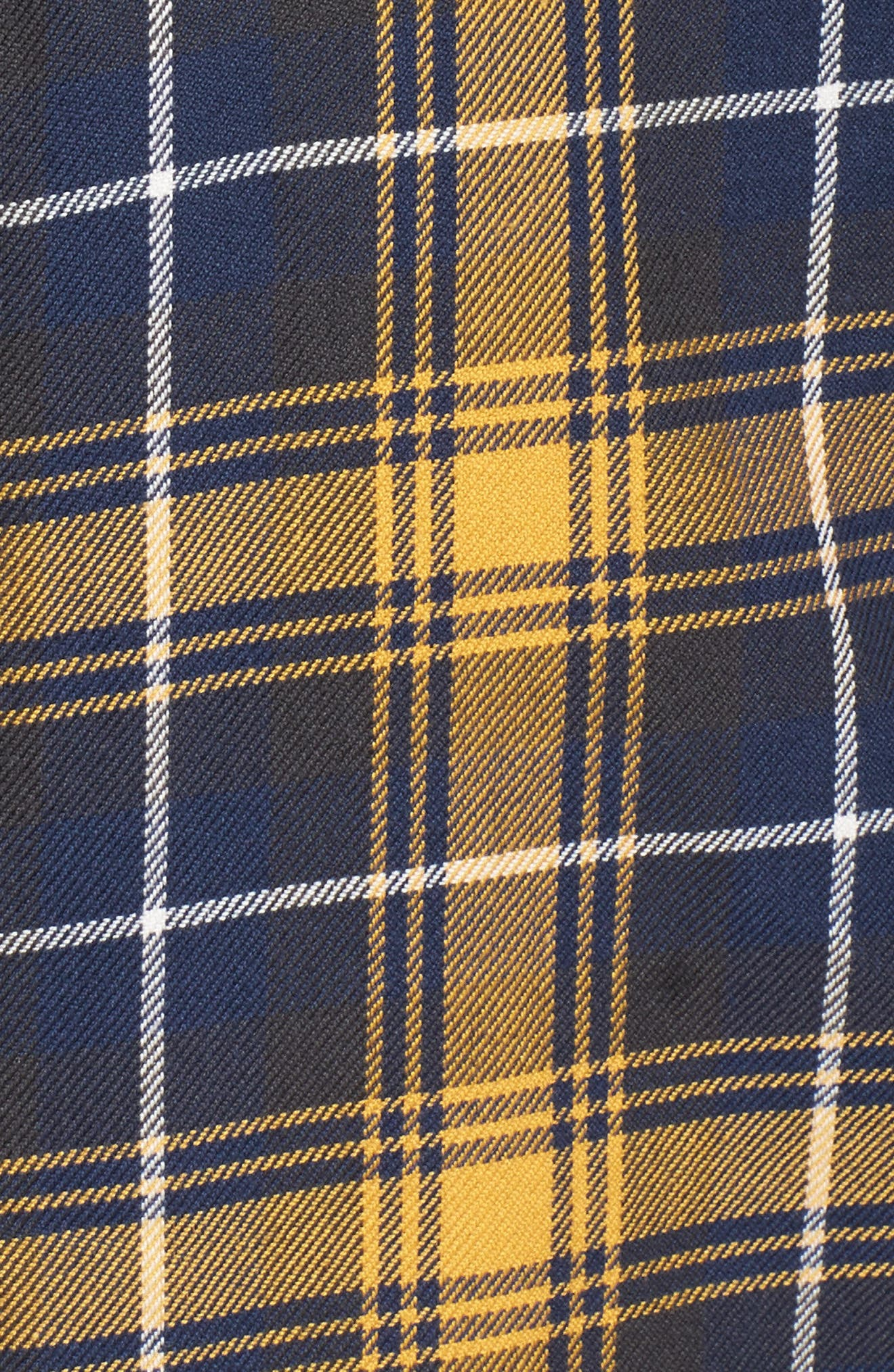 Sycamore Plaid Flannel Sport Shirt,                             Alternate thumbnail 5, color,                             Mineral Yellow/ Dress Blues