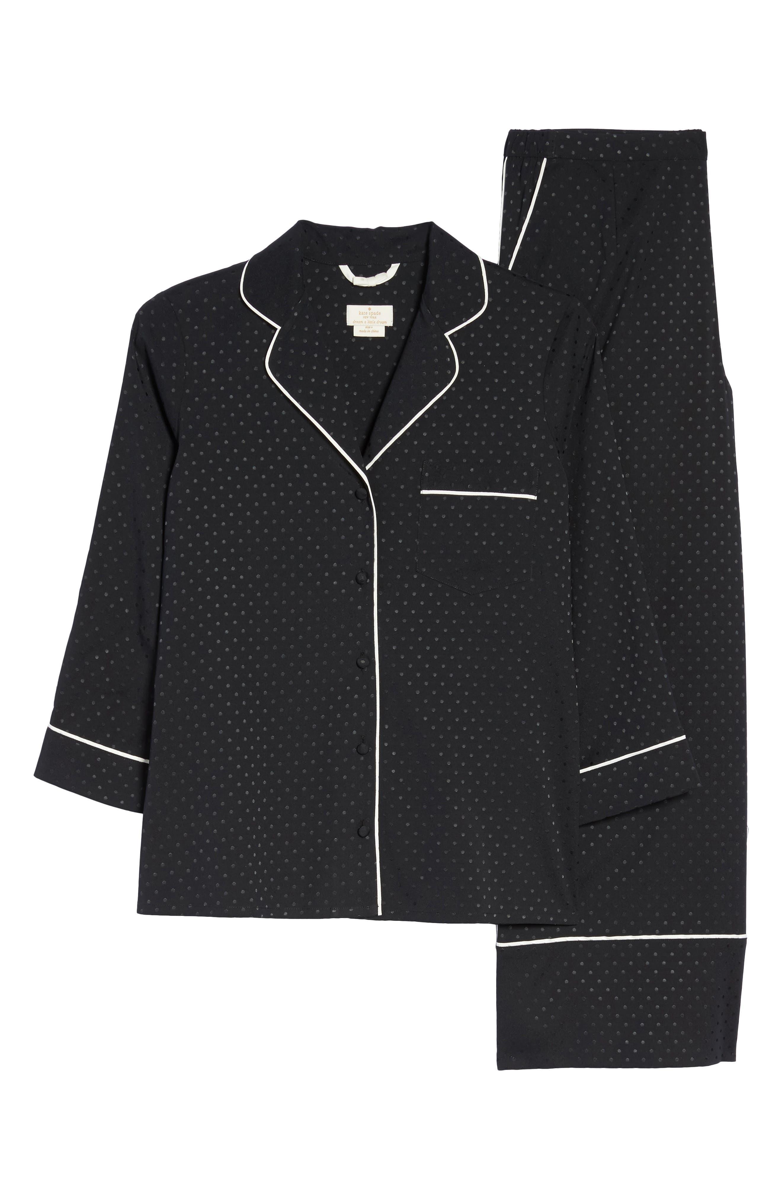 crop pajamas,                             Alternate thumbnail 4, color,                             Black