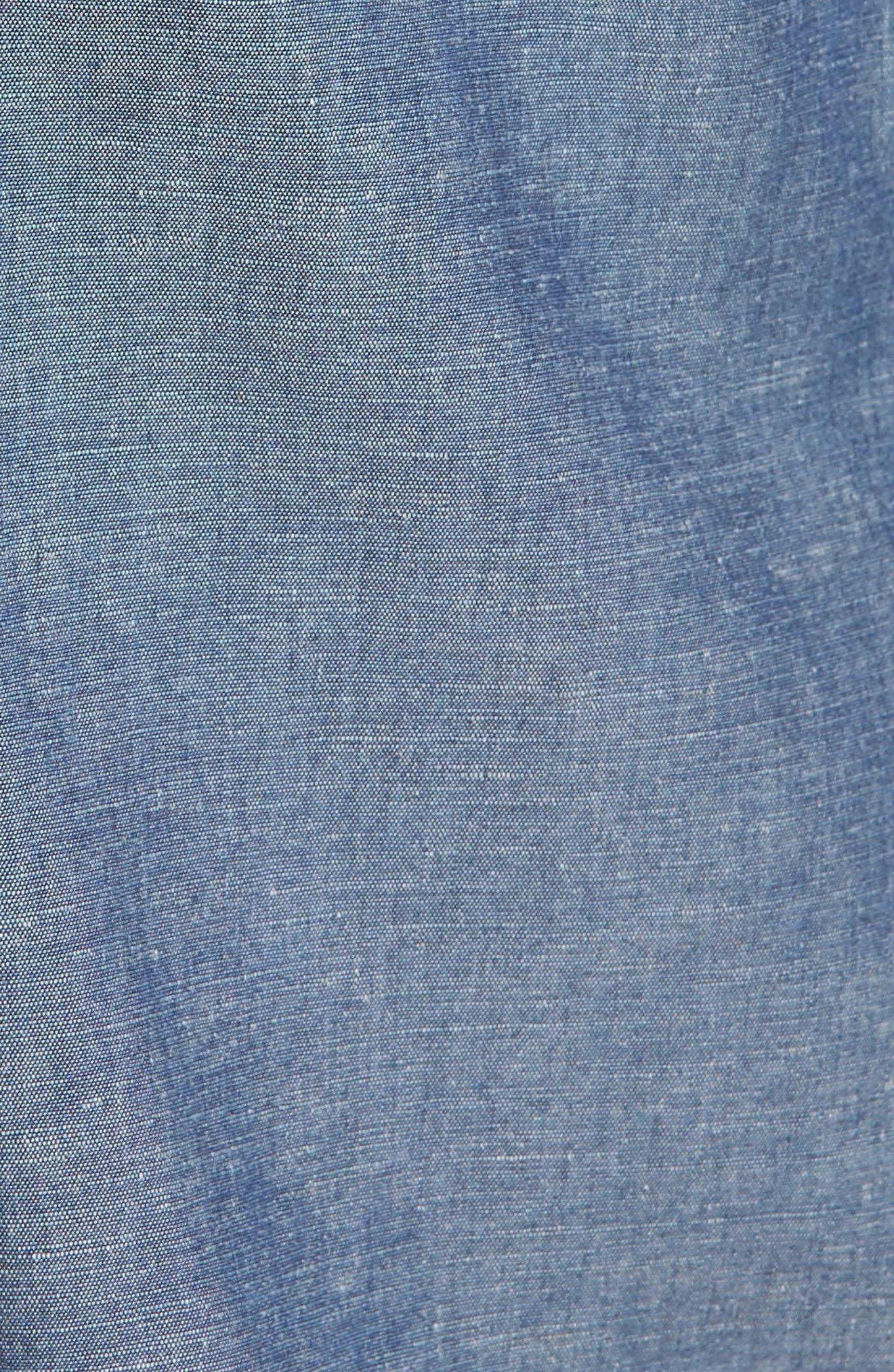Flynn Lightweight Denim Shirt,                             Alternate thumbnail 6, color,                             Blue Wave