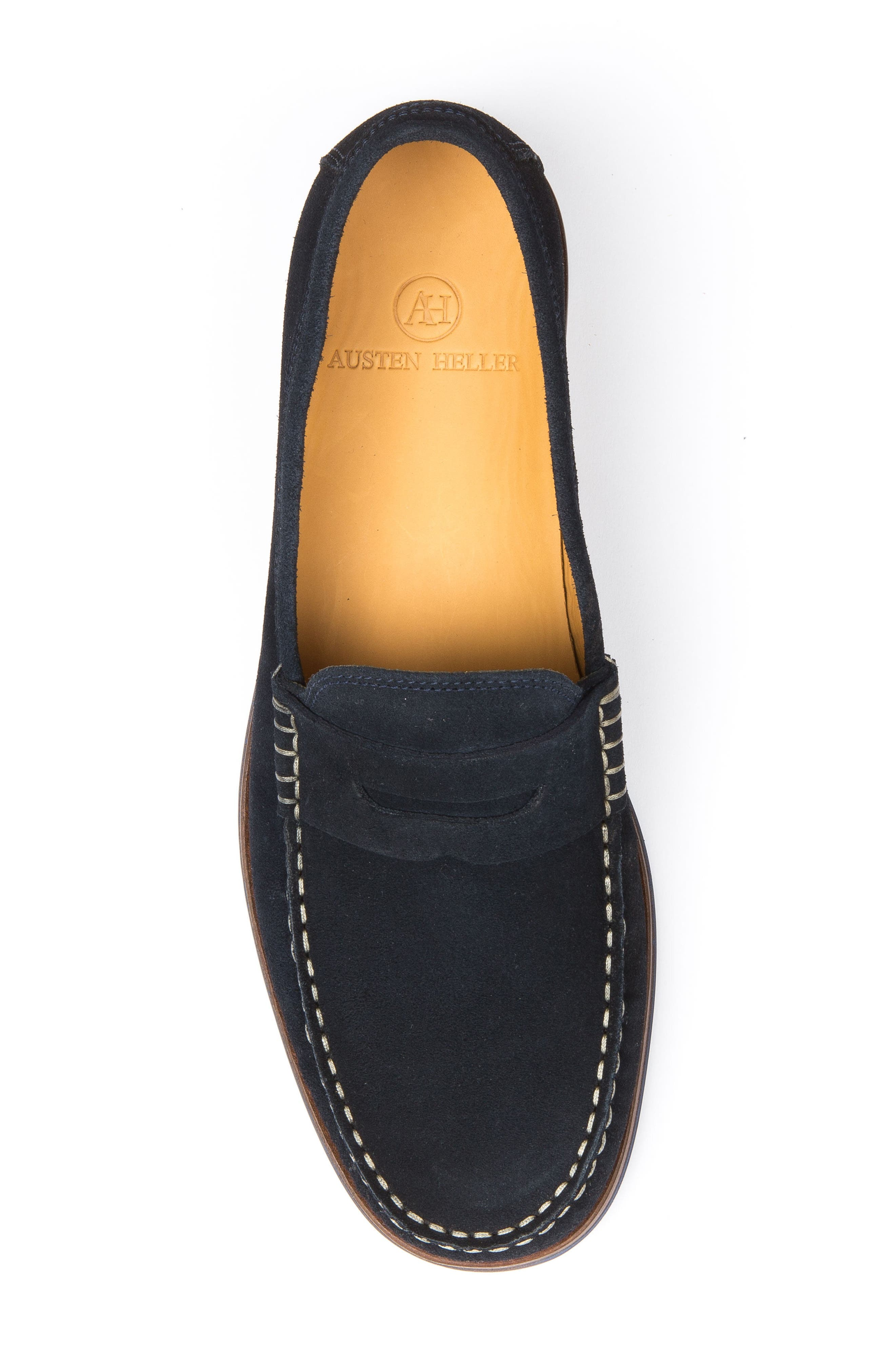 Ripleys Penny Loafer,                             Alternate thumbnail 5, color,                             Navy Suede