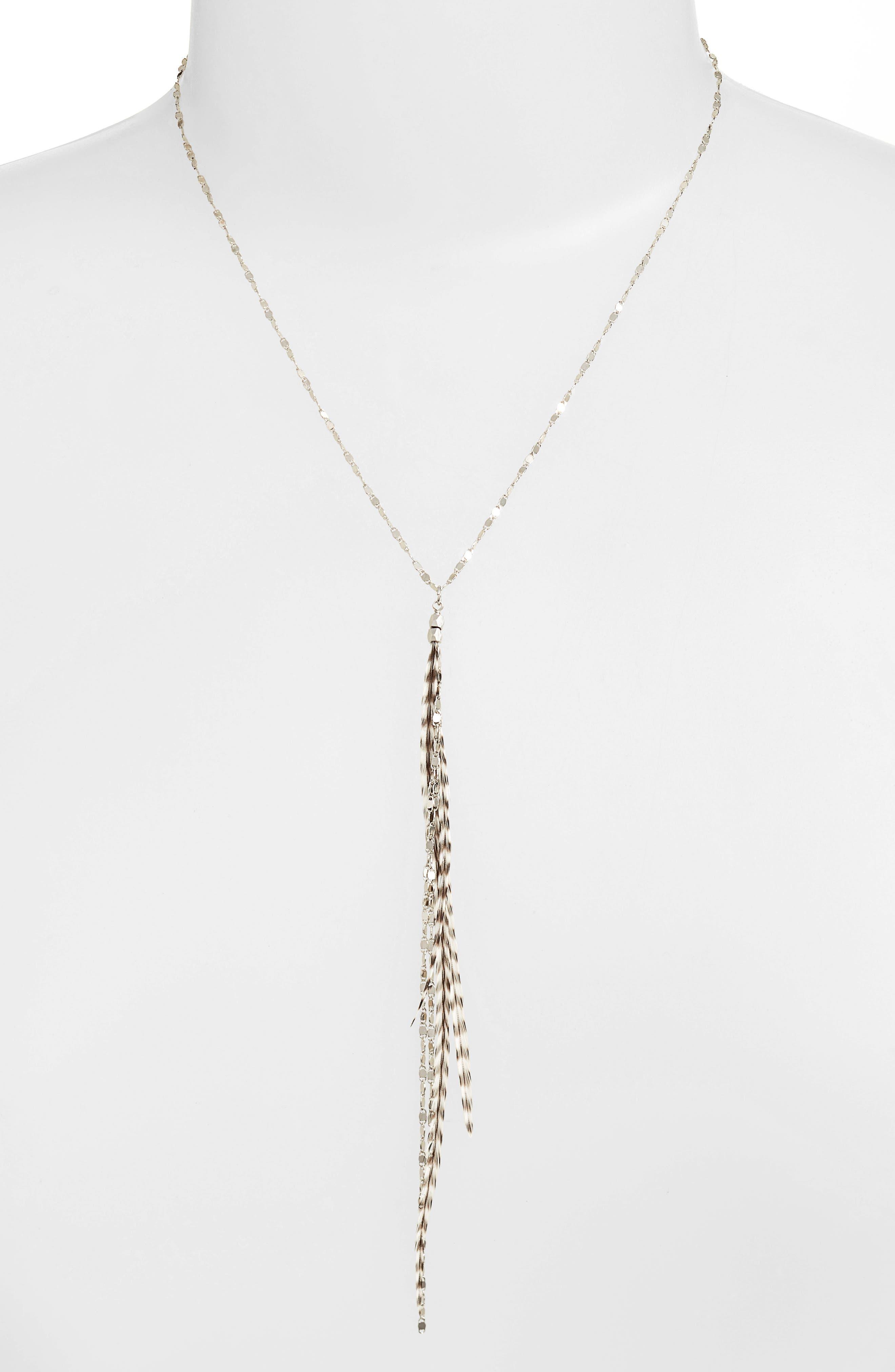 Alternate Image 2  - Serefina Glistening Feather Y Necklace