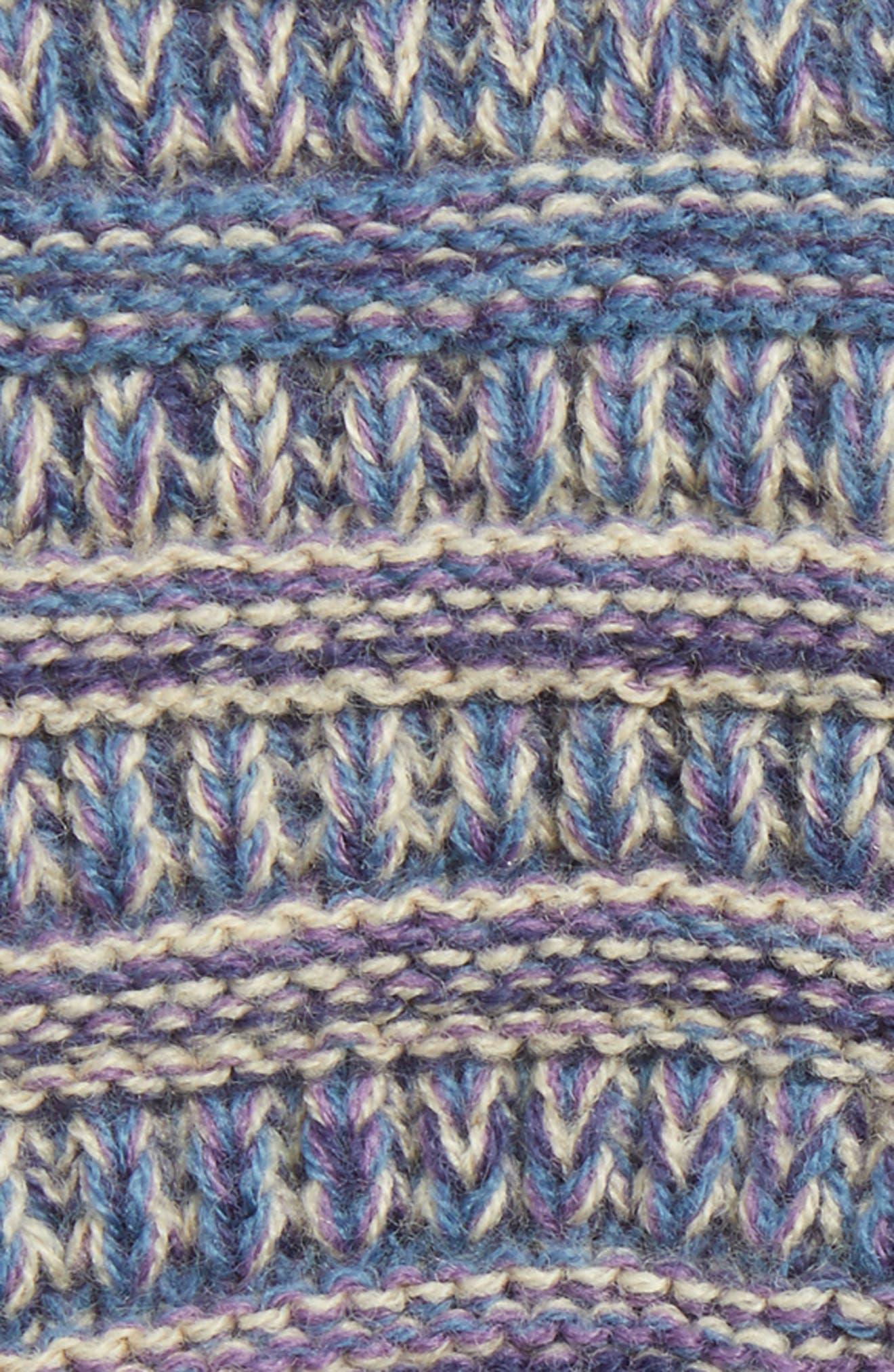 Knit Tech Gloves,                             Alternate thumbnail 2, color,                             Purple/ Dark Denim/ Beige