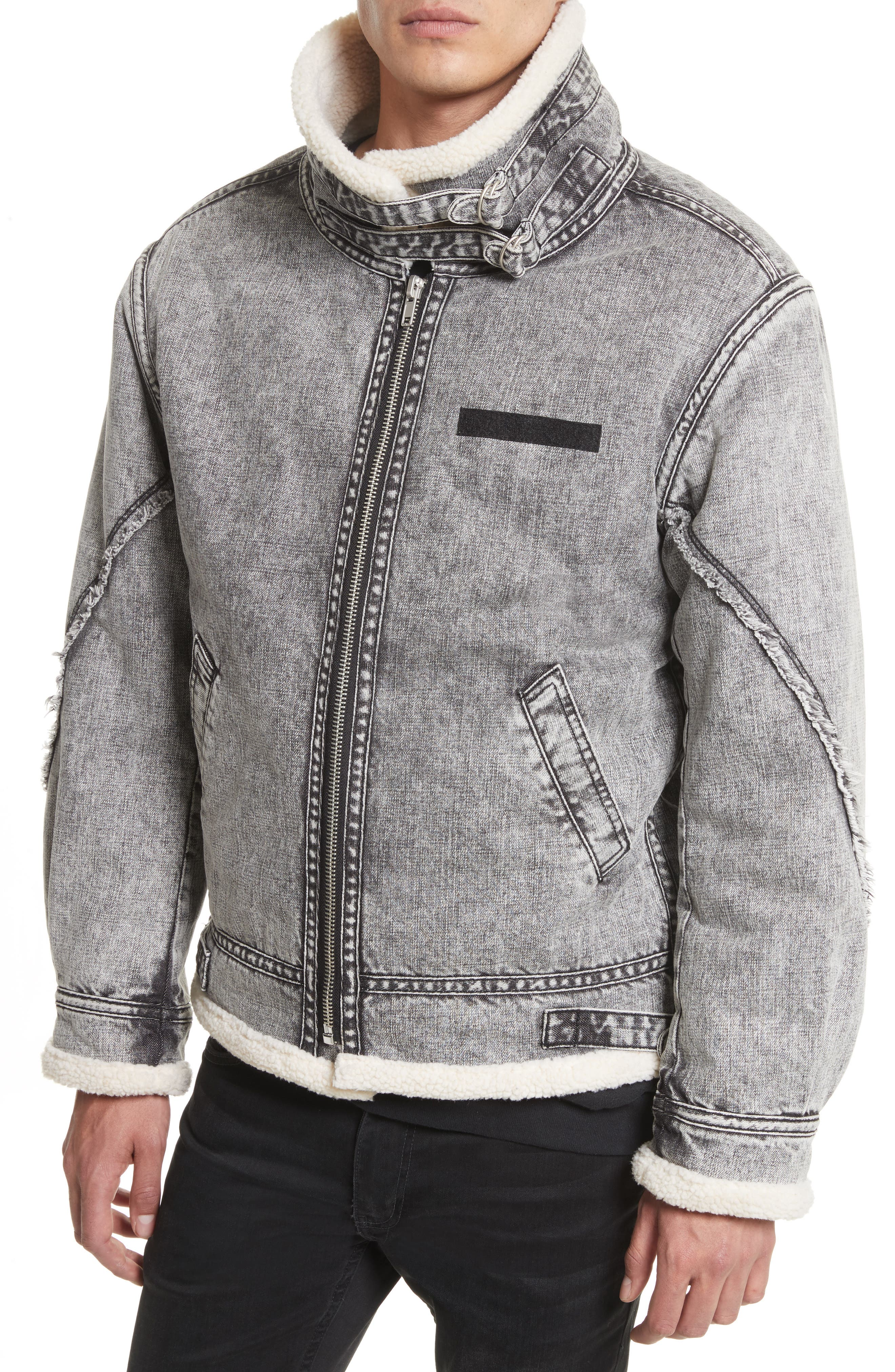 Alternate Image 4  - Drifter Denim Bomber Jacket