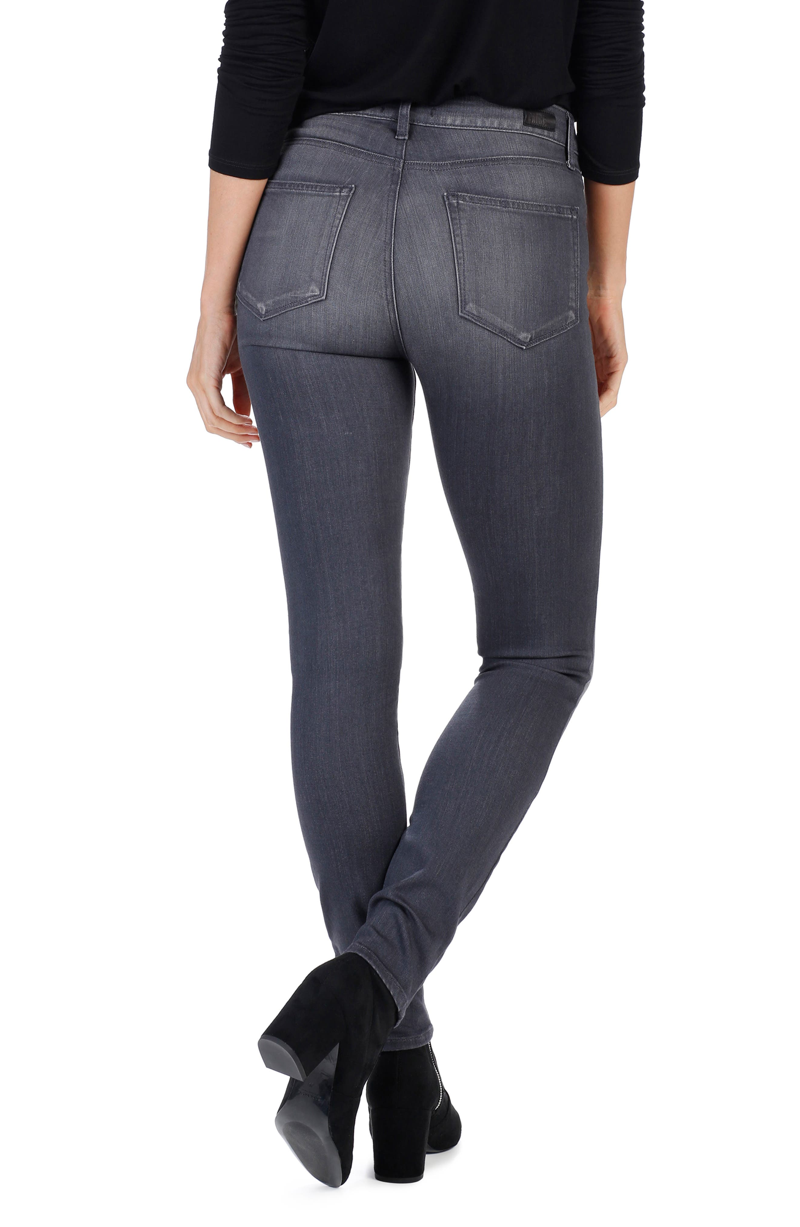 Alternate Image 2  - PAIGE Transcend - Edgemont High Waist Skinny Jeans (Summit Grey)