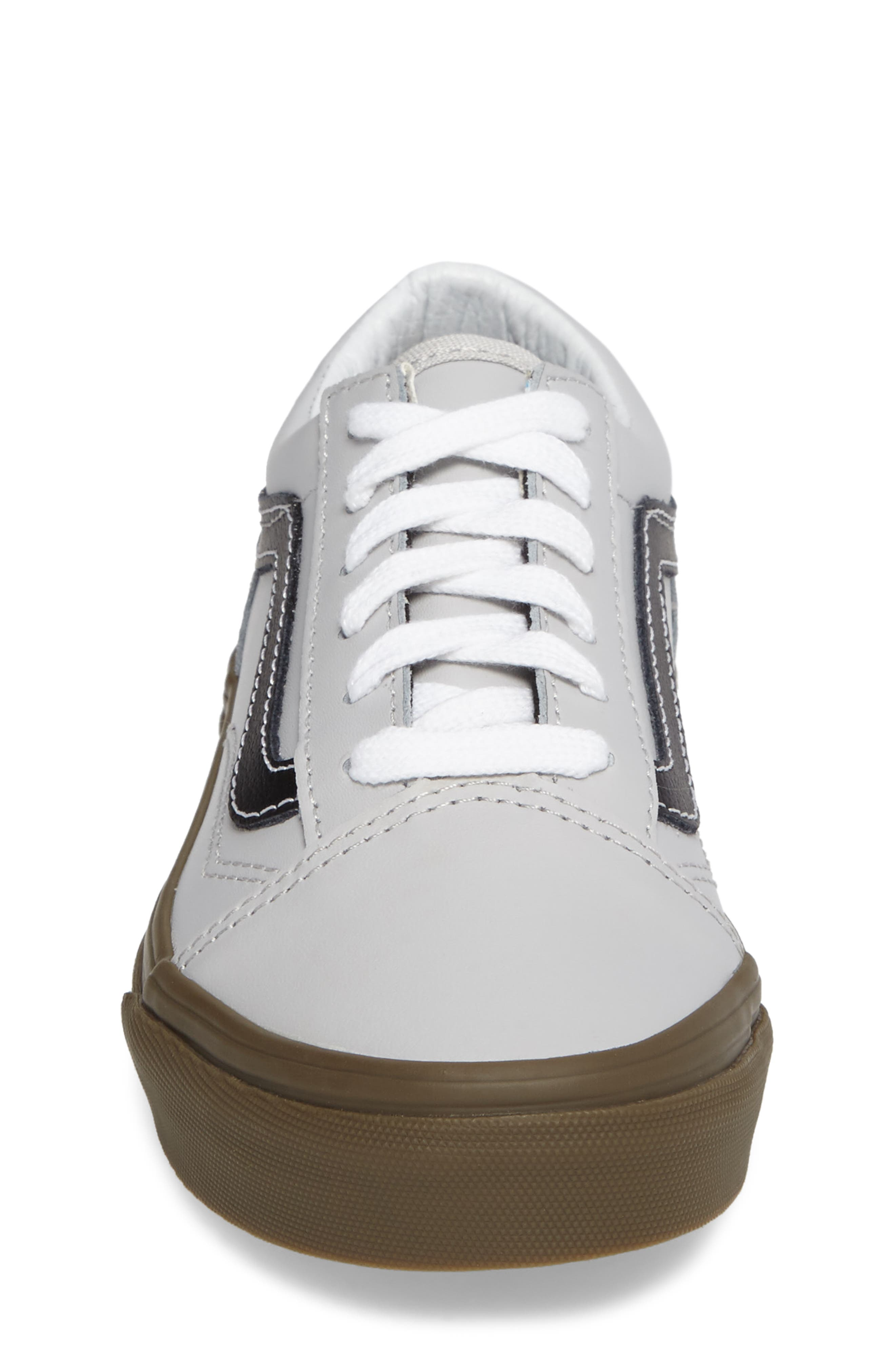 Old Skool Sneaker,                             Alternate thumbnail 4, color,                             Bleacher Gray/ Black/ Gum