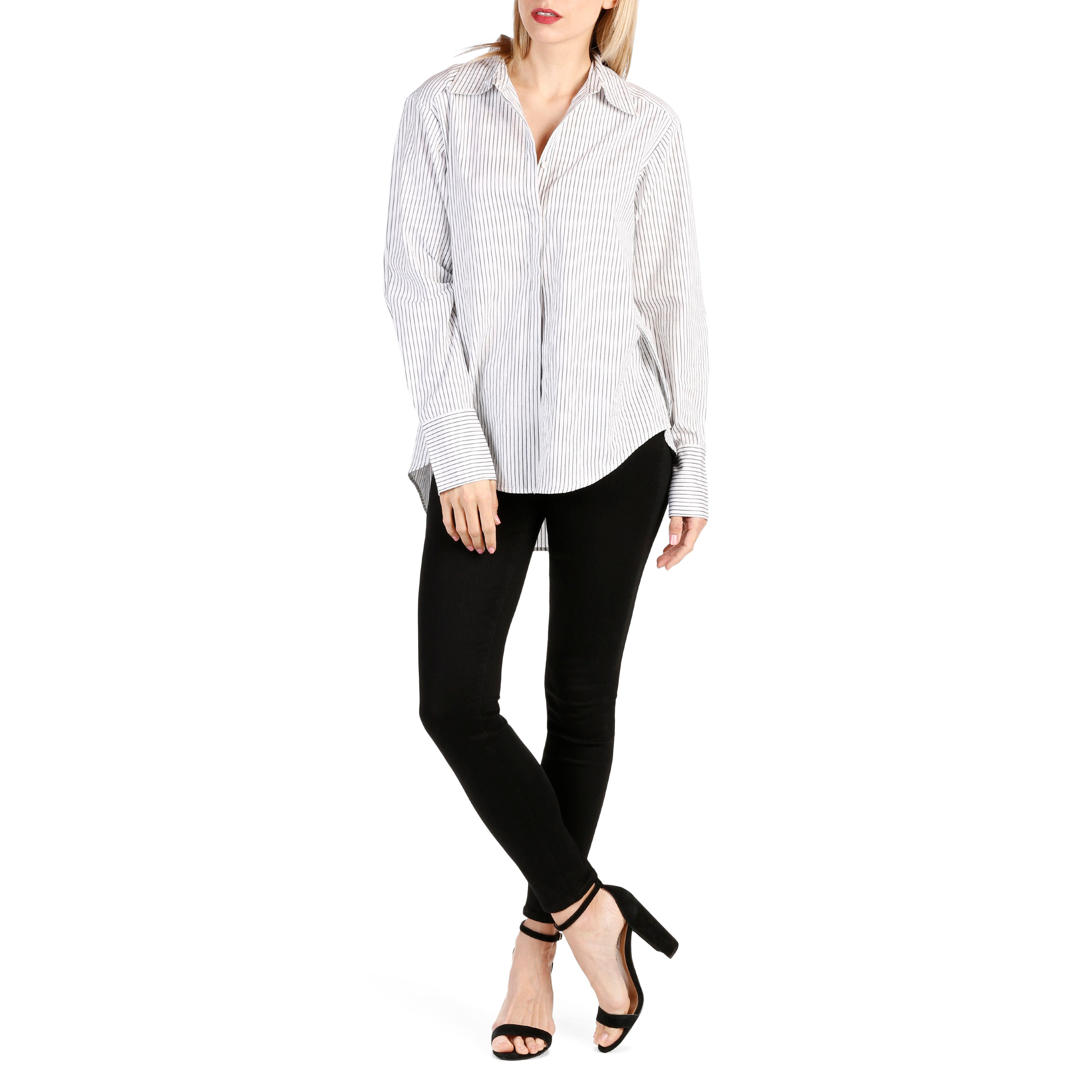 Clemence Stripe Shirt,                             Alternate thumbnail 4, color,                             Black And White Stripe