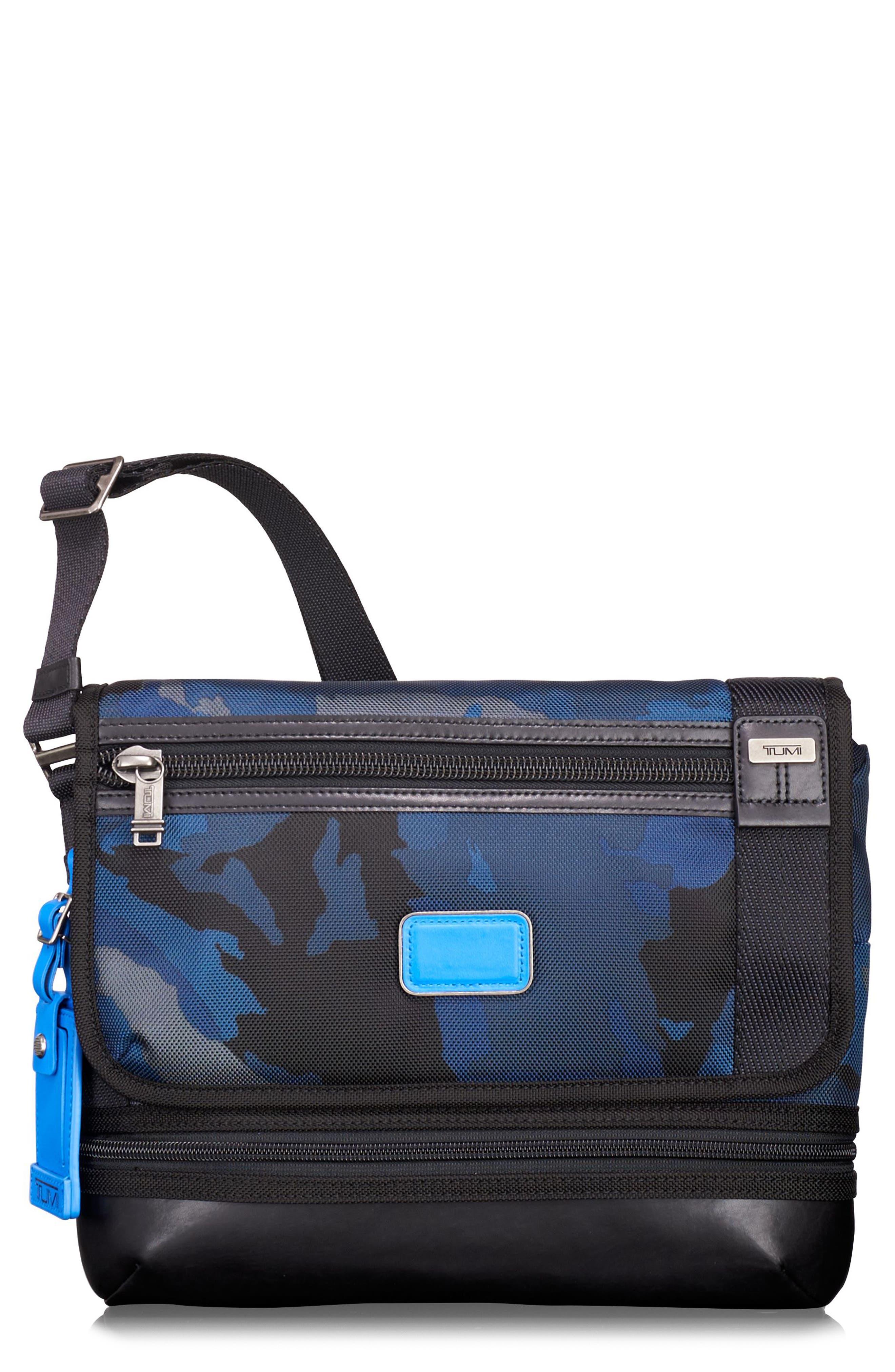Alpha Bravo Beale Messenger Bag,                         Main,                         color, Blue Camo