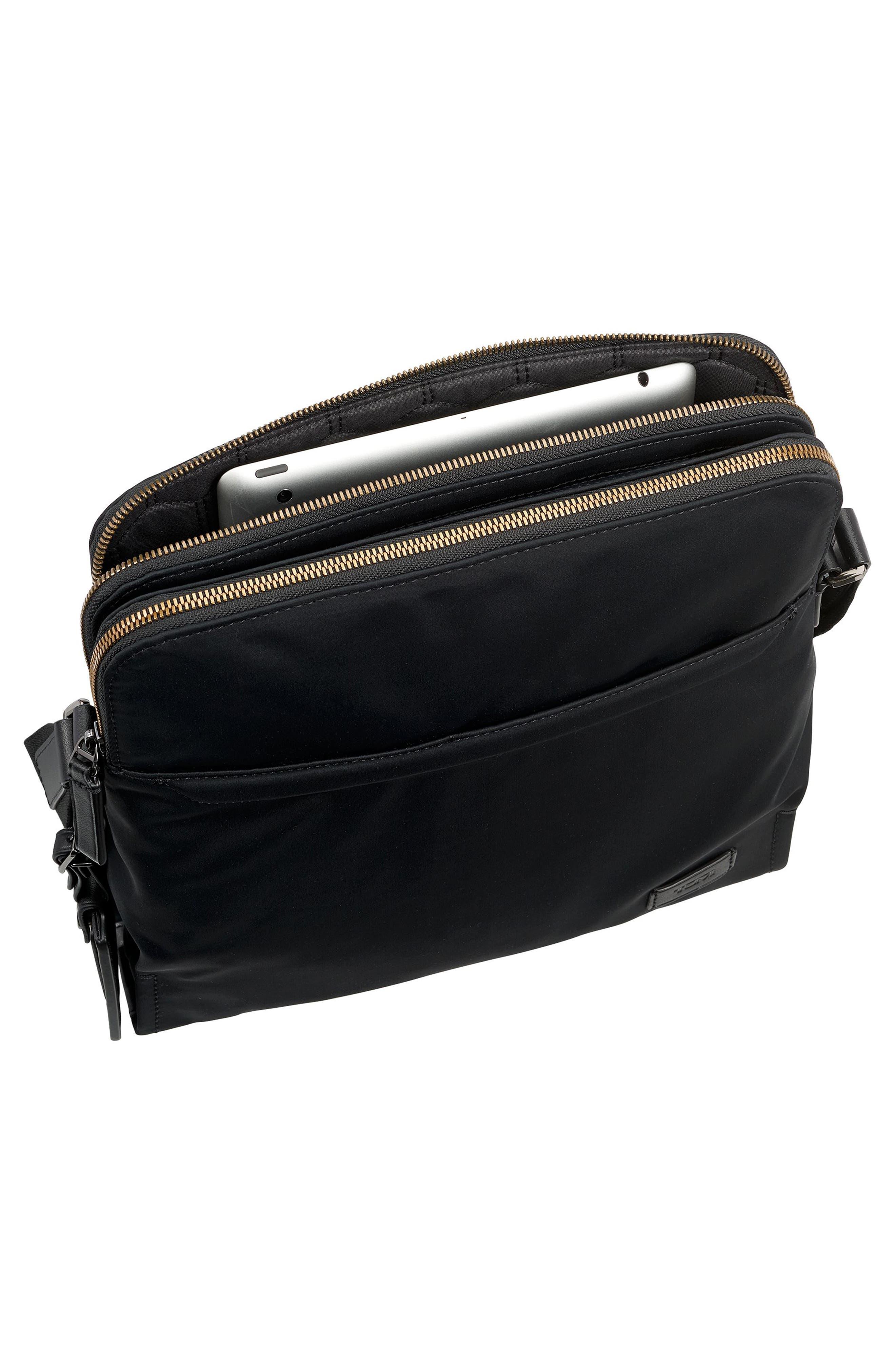 Harrison Stratton Messenger Bag,                             Alternate thumbnail 4, color,                             Black Nylon