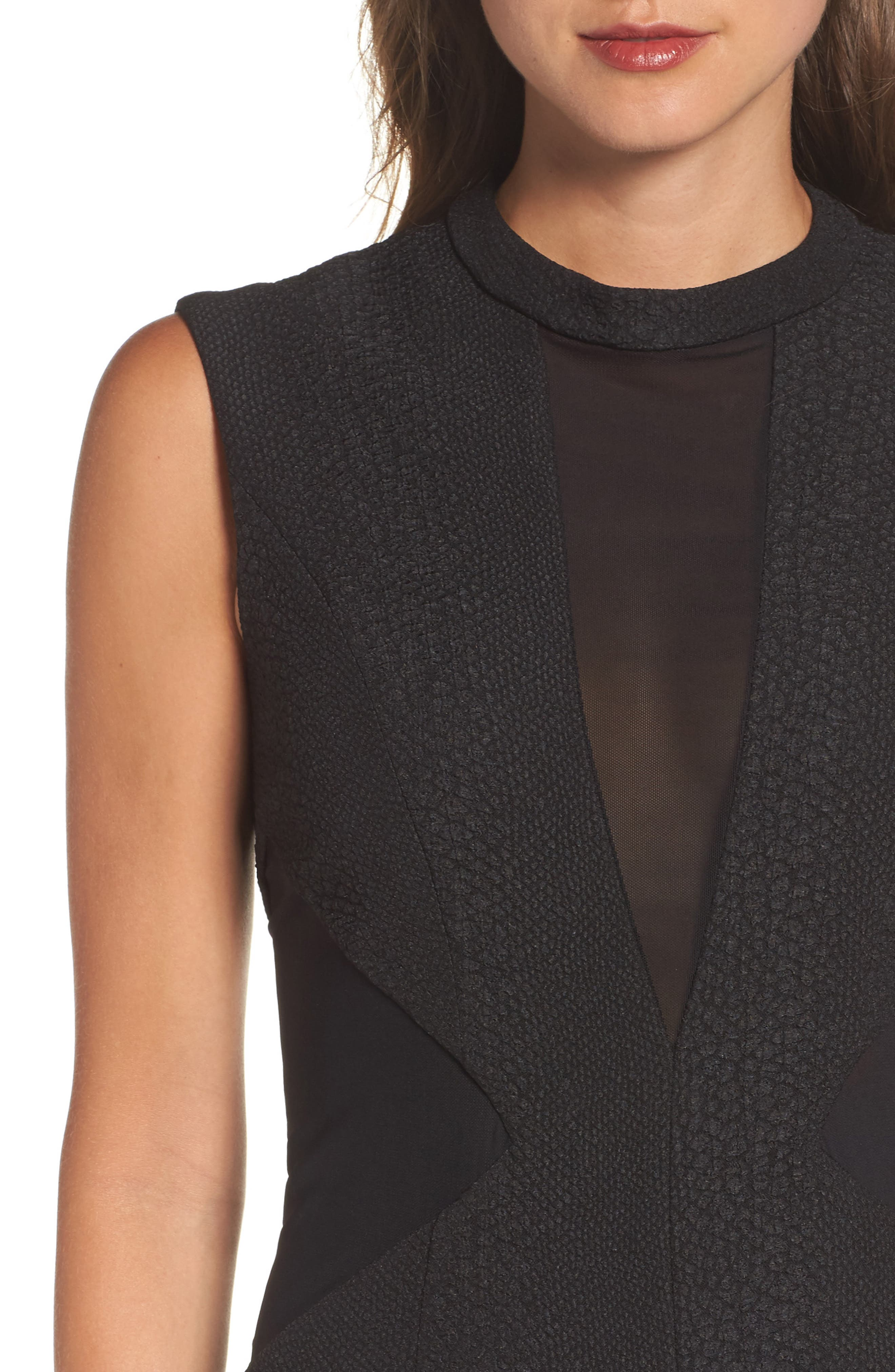 Alternate Image 4  - Bardot Croc Texture Panel Dress