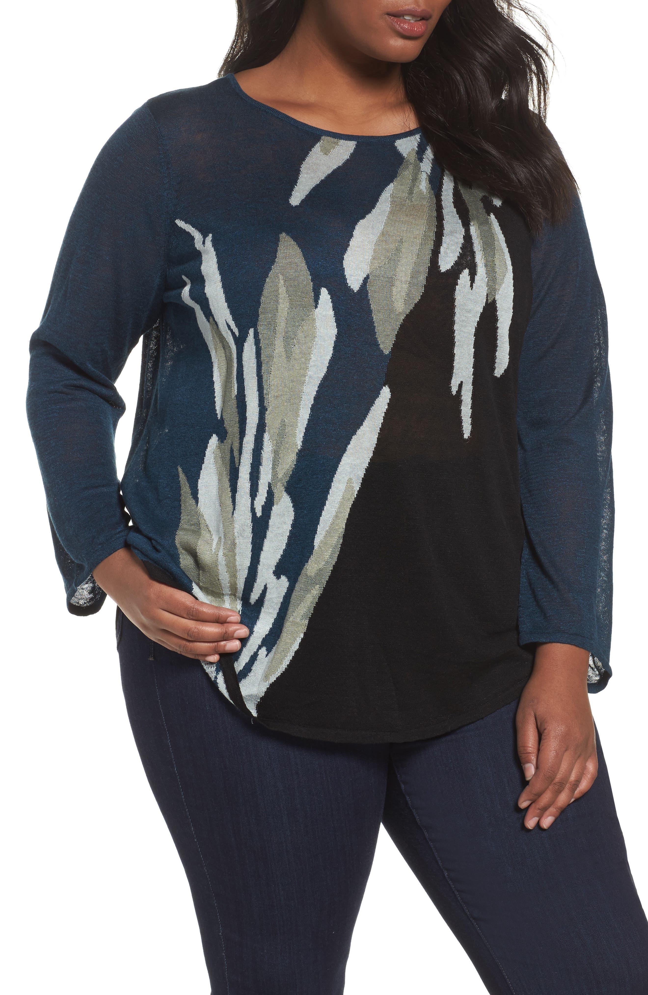 NIC+ZOE Wild Thyme Sweater (Plus Size)