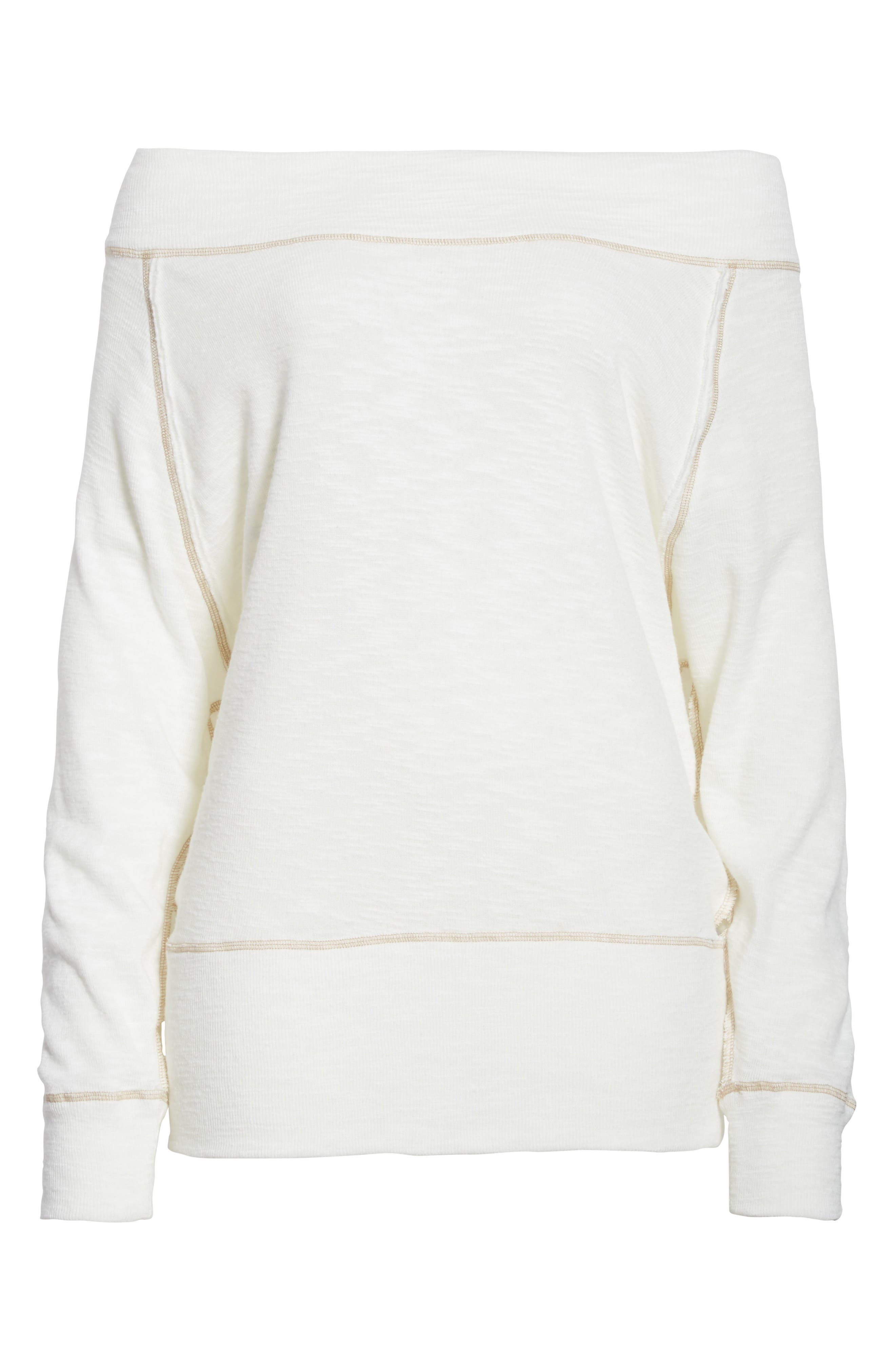 Palisades Off the Shoulder Top,                             Alternate thumbnail 6, color,                             Ivory
