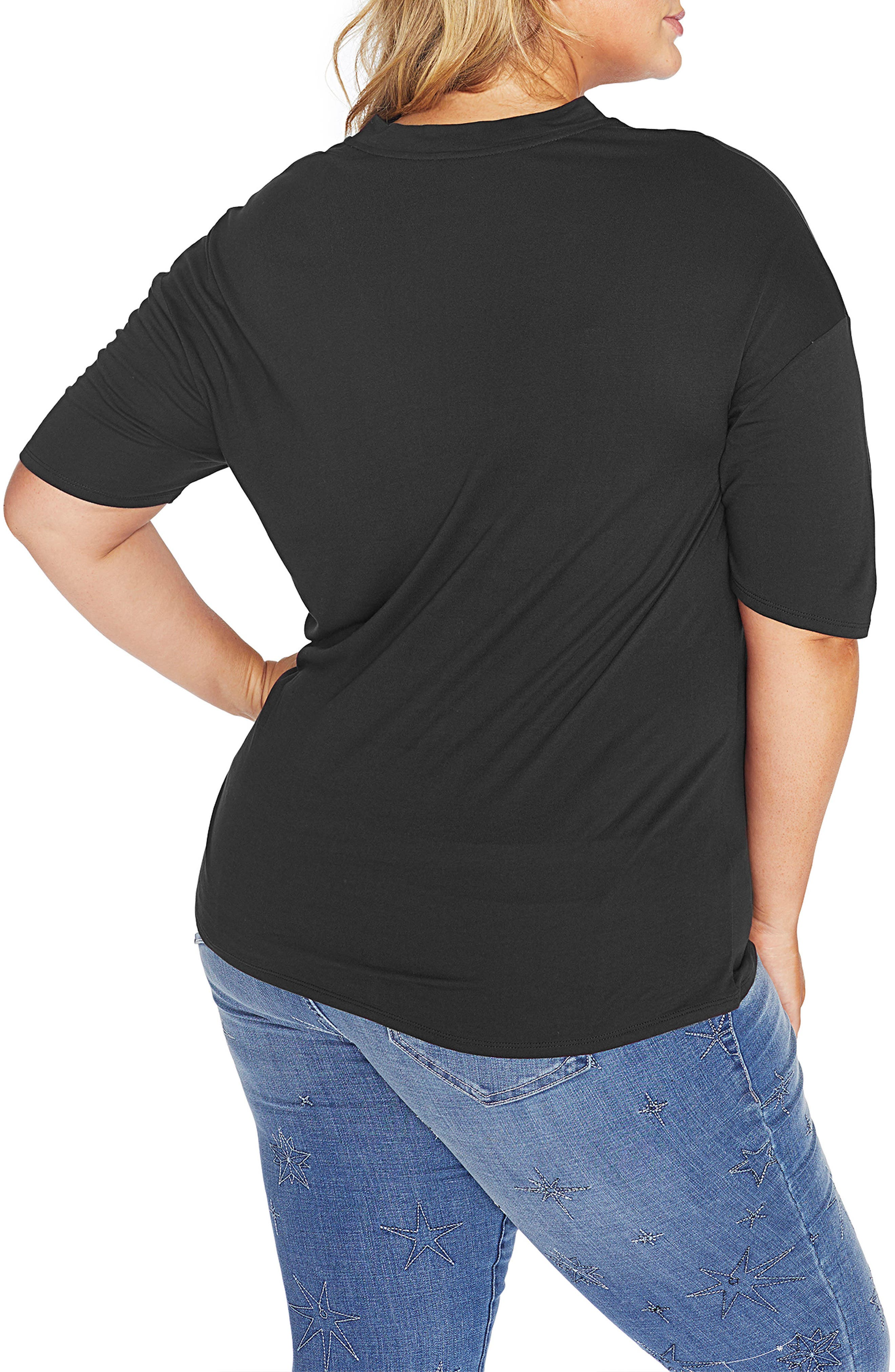 Alternate Image 2  - REBEL WILSON X ANGELS Knit Top with Neckband (Plus Size)