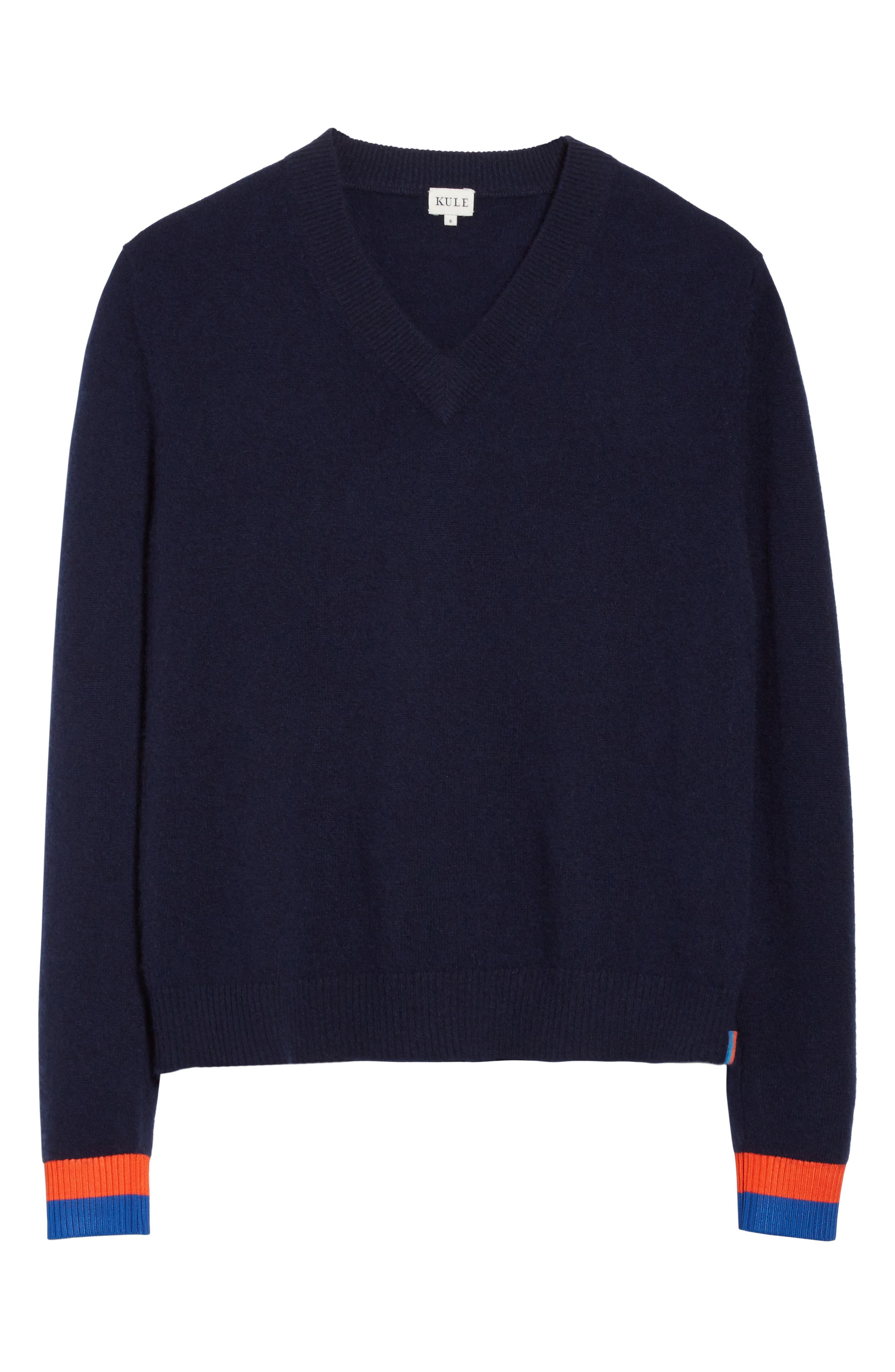 Cashmere Sweater,                             Alternate thumbnail 6, color,                             Navy