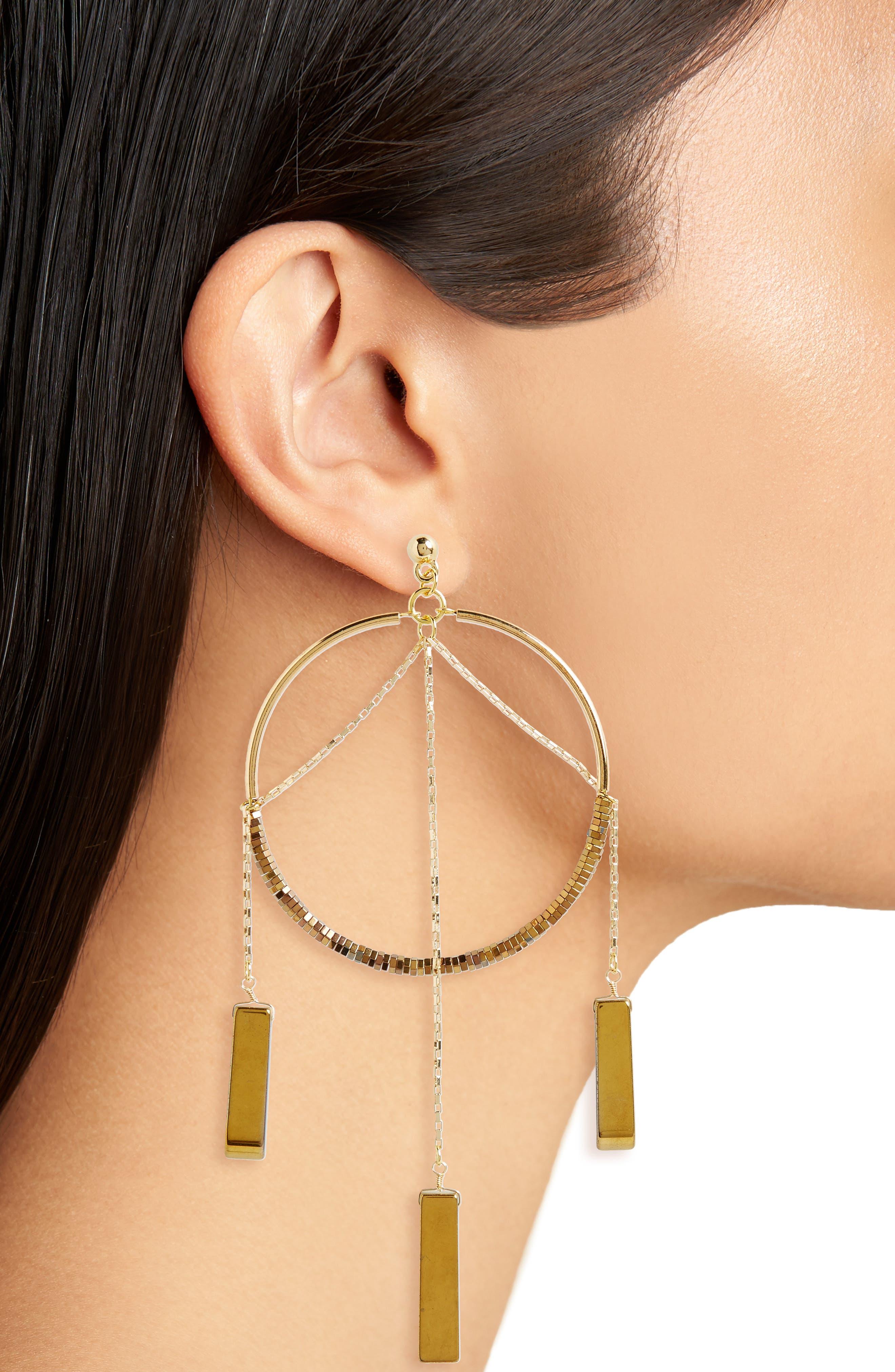 Alternate Image 2  - Vanessa Mooney The Meadows Hoop Earrings