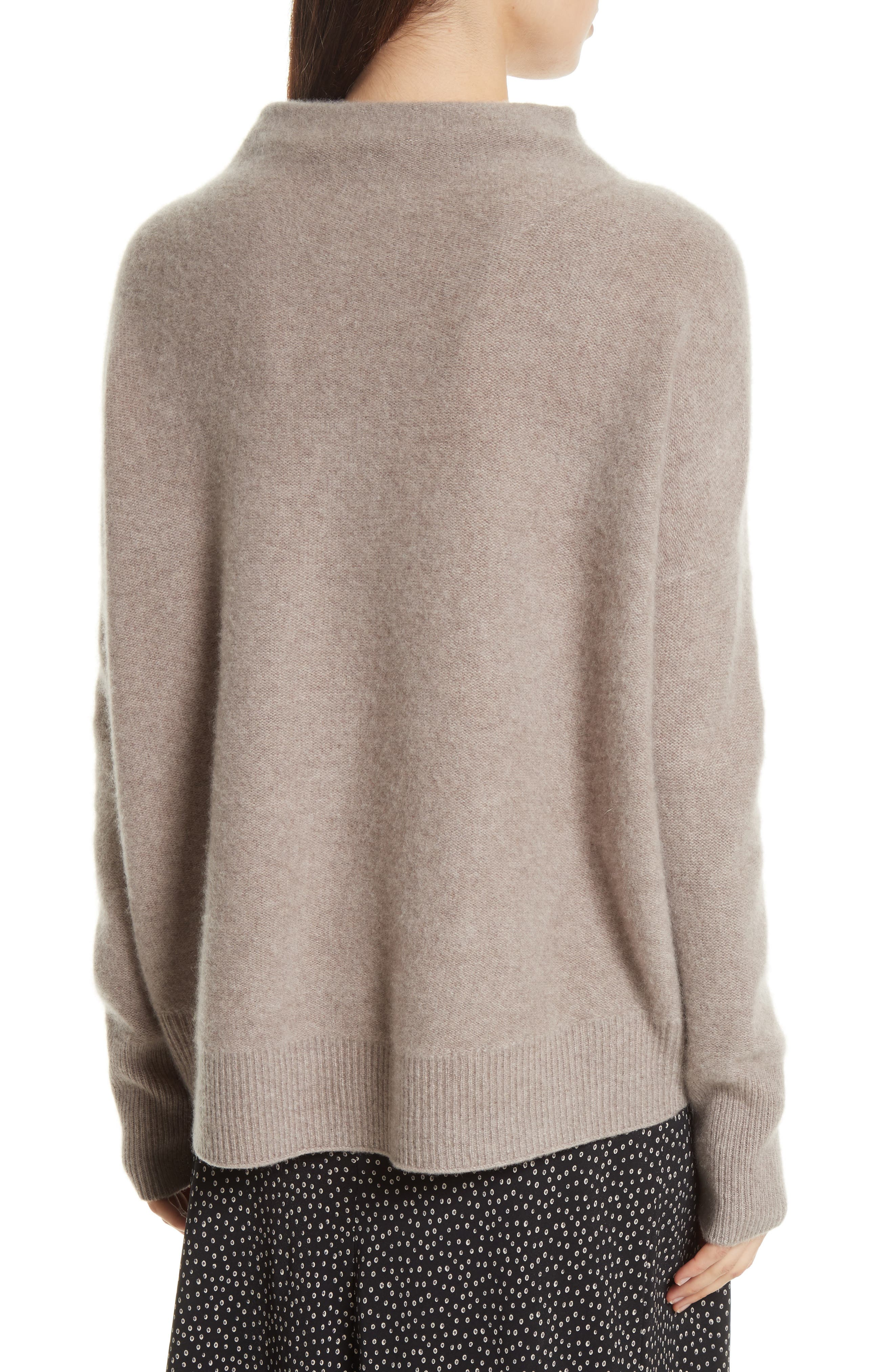 Cashmere Funnel Neck Pullover,                             Alternate thumbnail 3, color,                             Taupe