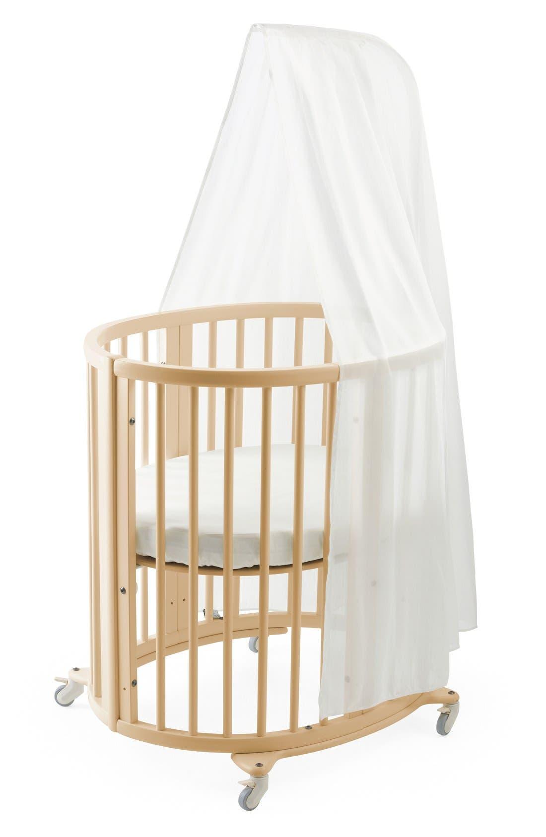 Stokke Sleepi Mini Crib, Drape Rod & Mattress Bundle