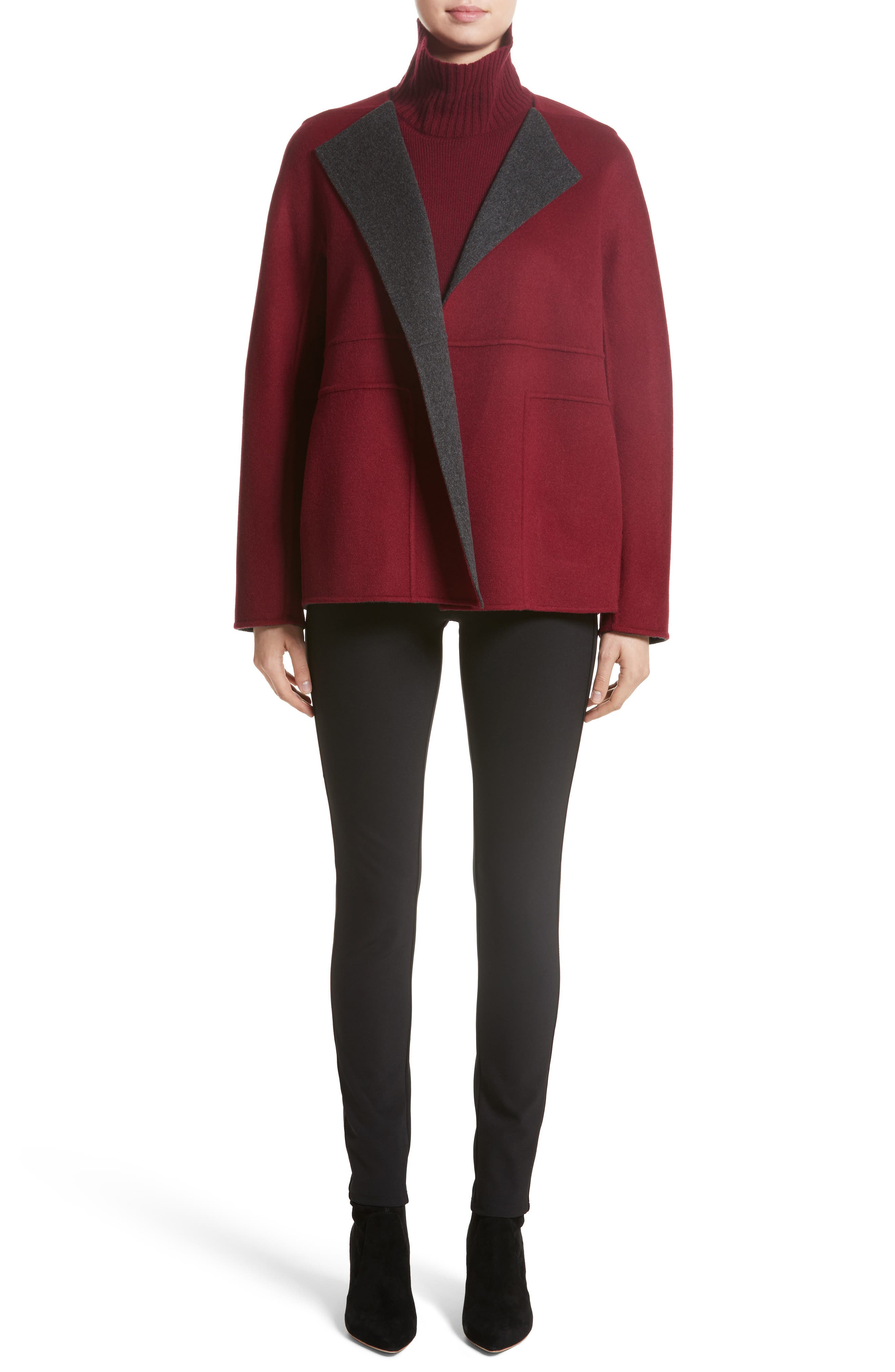 Alternate Image 7  - Lafayette 148 New York Two-Tone Double Face Reversible Jacket (Nordstrom Exclusive)