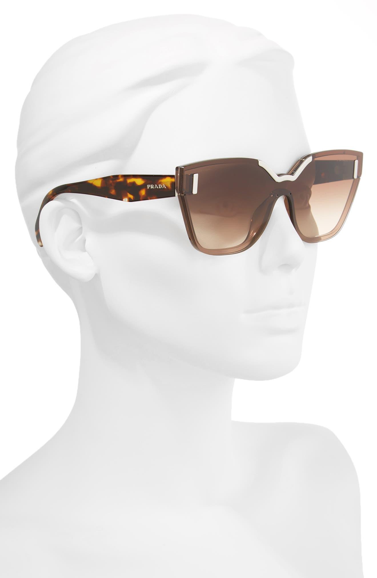 Alternate Image 2  - Prada Gradient Shield Sunglasses