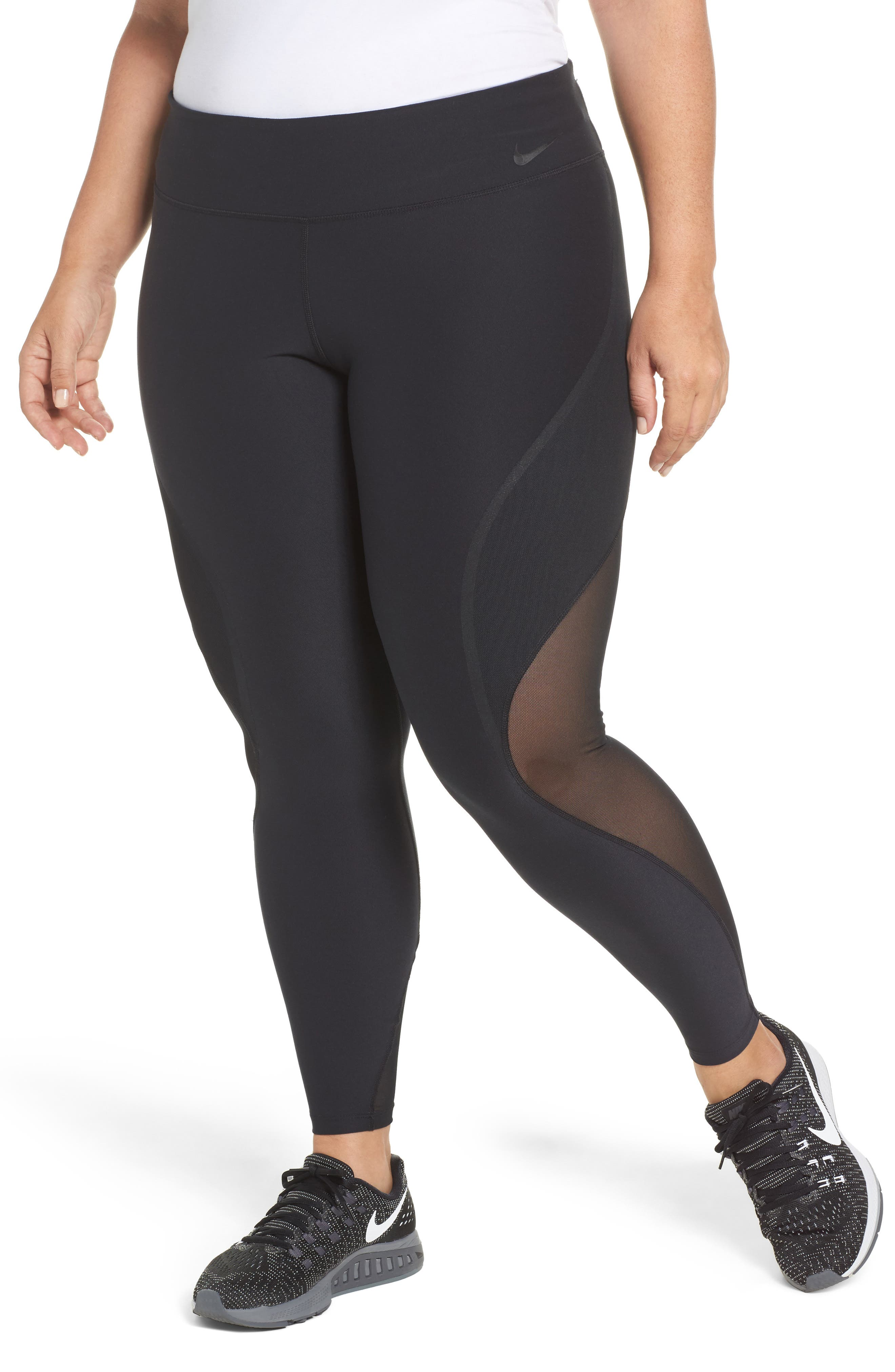Power Legendary Training Tights,                         Main,                         color, Black/ Black/ White