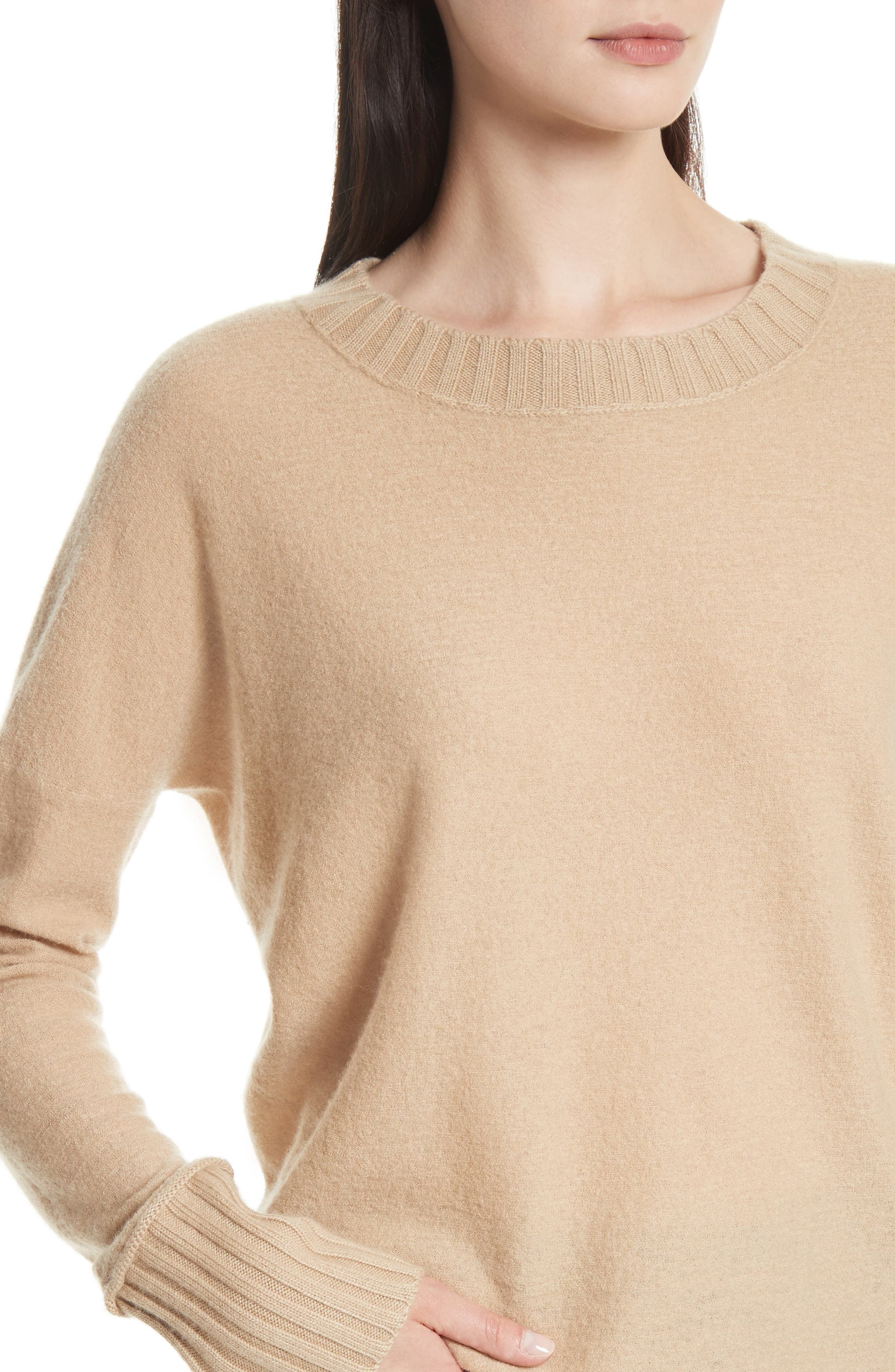 Cashmere Pullover,                             Alternate thumbnail 4, color,                             Camel