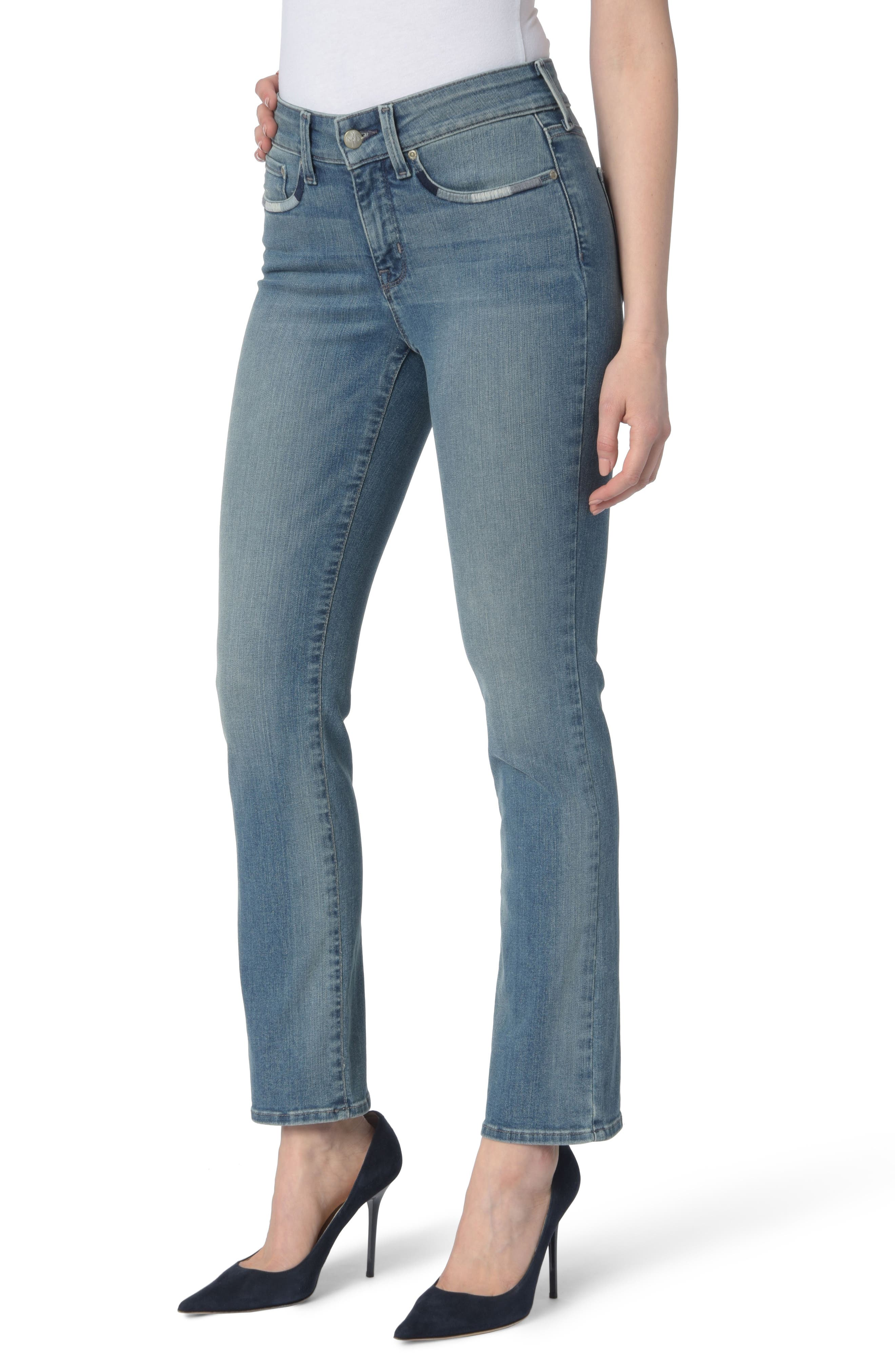 Alternate Image 1 Selected - NYDJ Marilyn Stretch Straight Leg Jeans (Pacific)