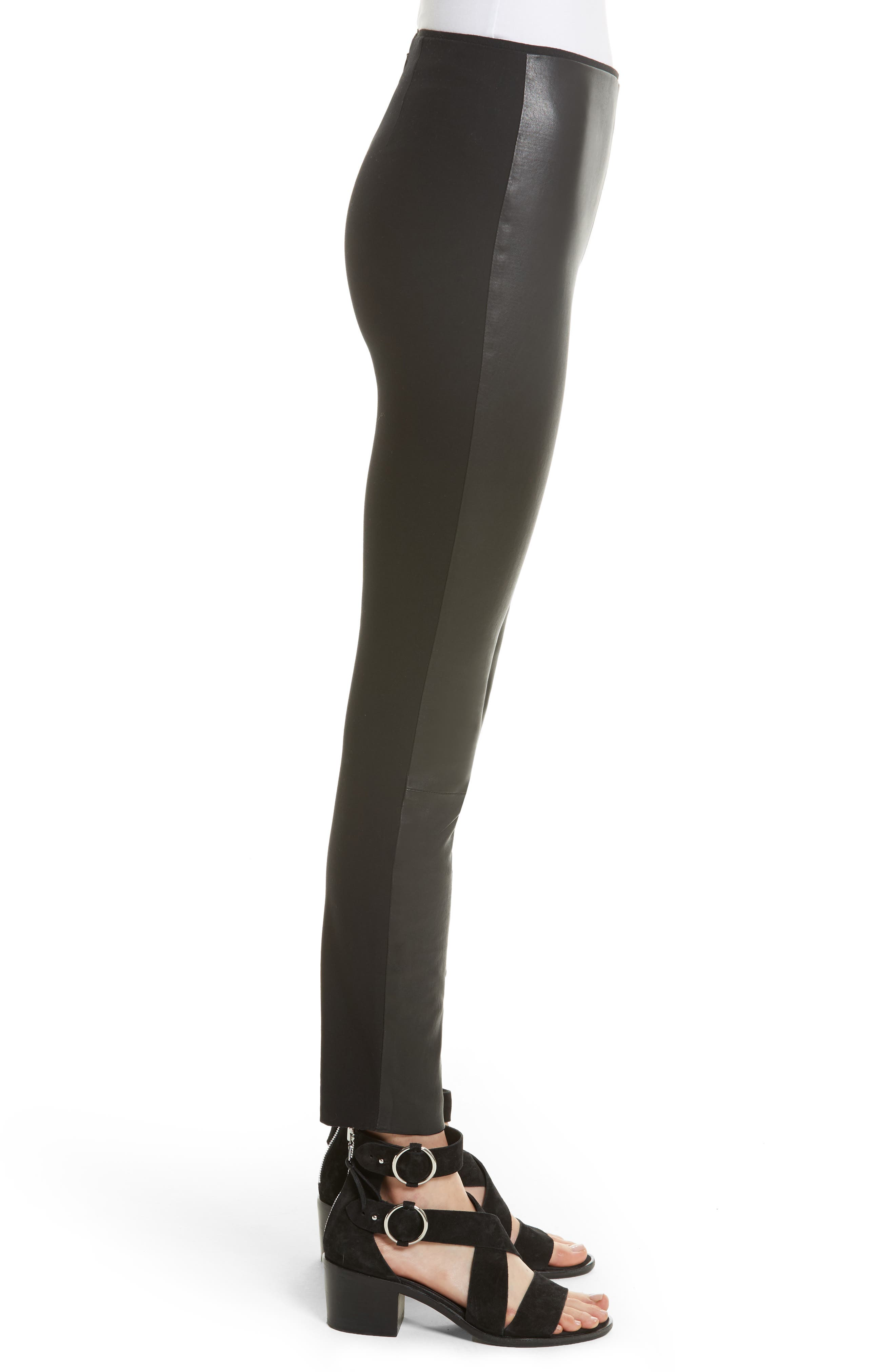 Alternate Image 4  - rag & bone Josephine Leather Front Skinny Pants
