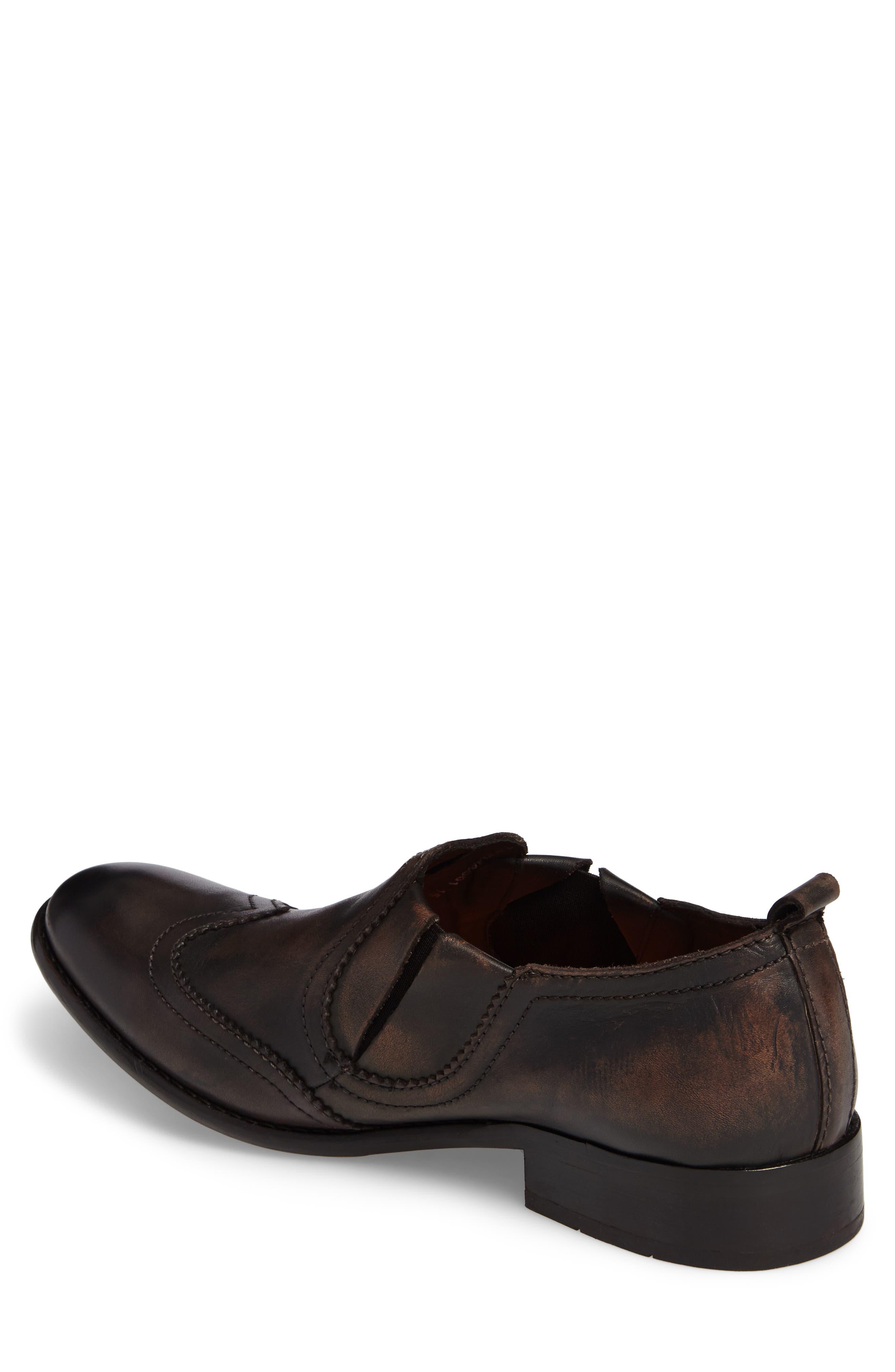 Wyat Wingtip Slip-On Loafer,                             Alternate thumbnail 2, color,                             Dark Brown