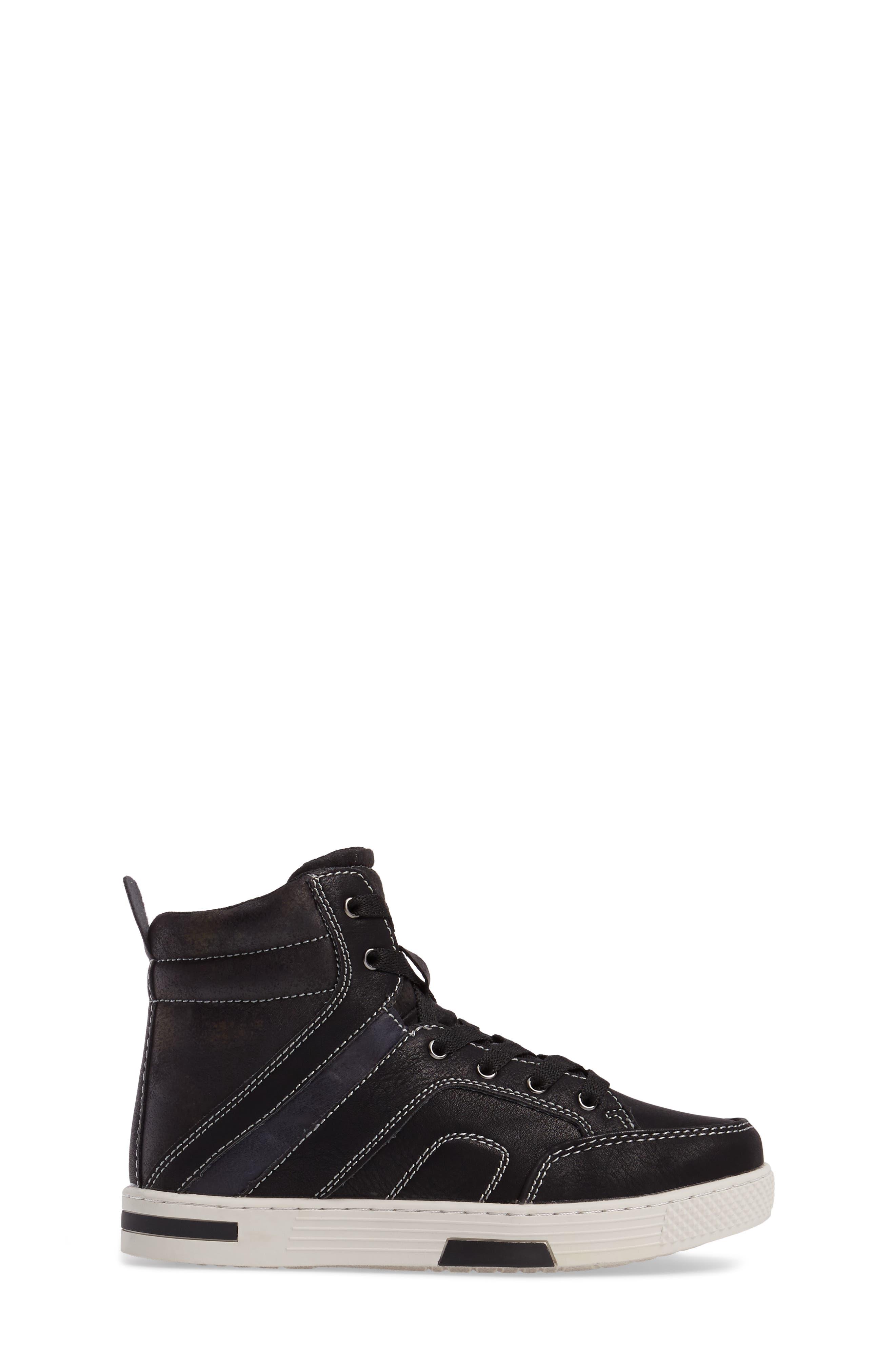 Cooler High Top Sneaker,                             Alternate thumbnail 3, color,                             Black