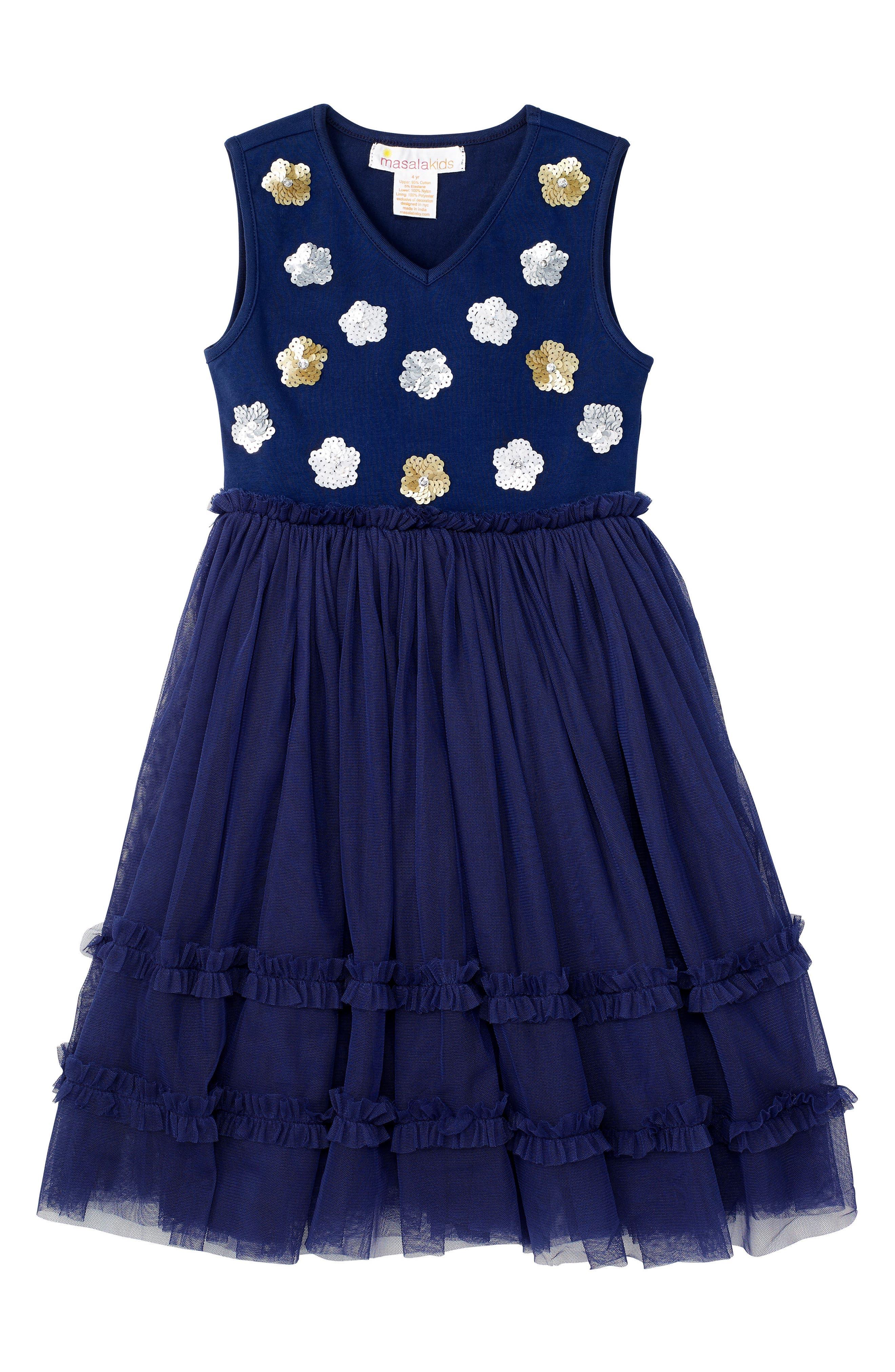 Liana Dress,                         Main,                         color, Navy