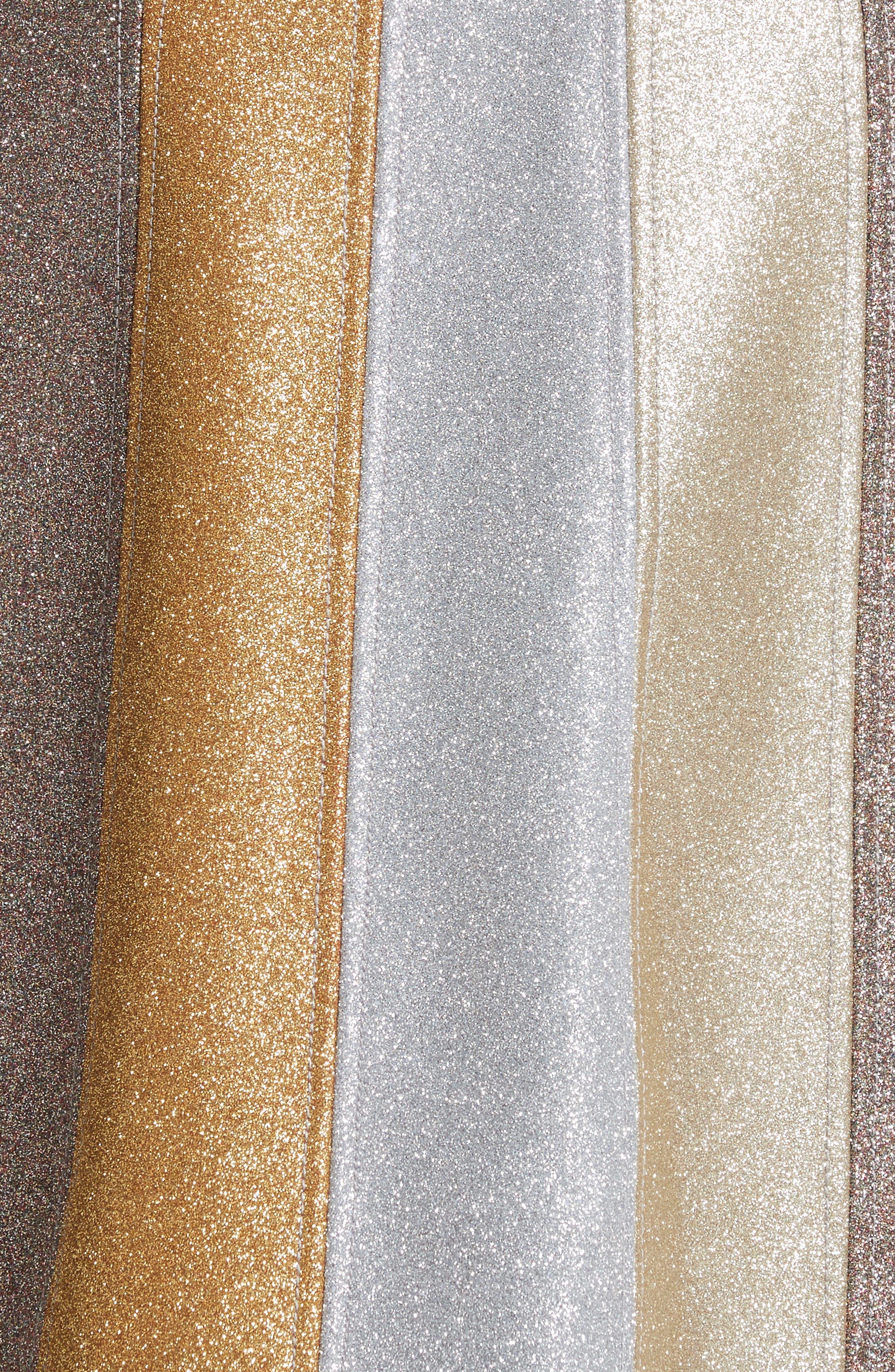 Glitter Panel A-Line Skirt,                             Alternate thumbnail 3, color,                             Multi