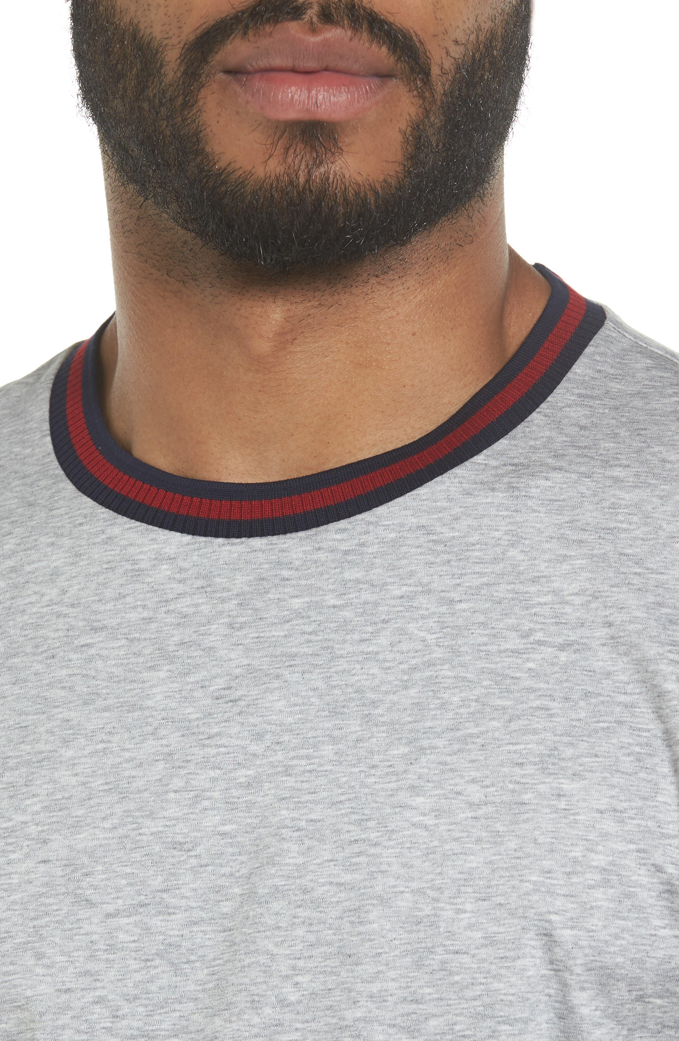 Alternate Image 4  - BOSS Tessler Slim Fit Ringer Neck T-Shirt