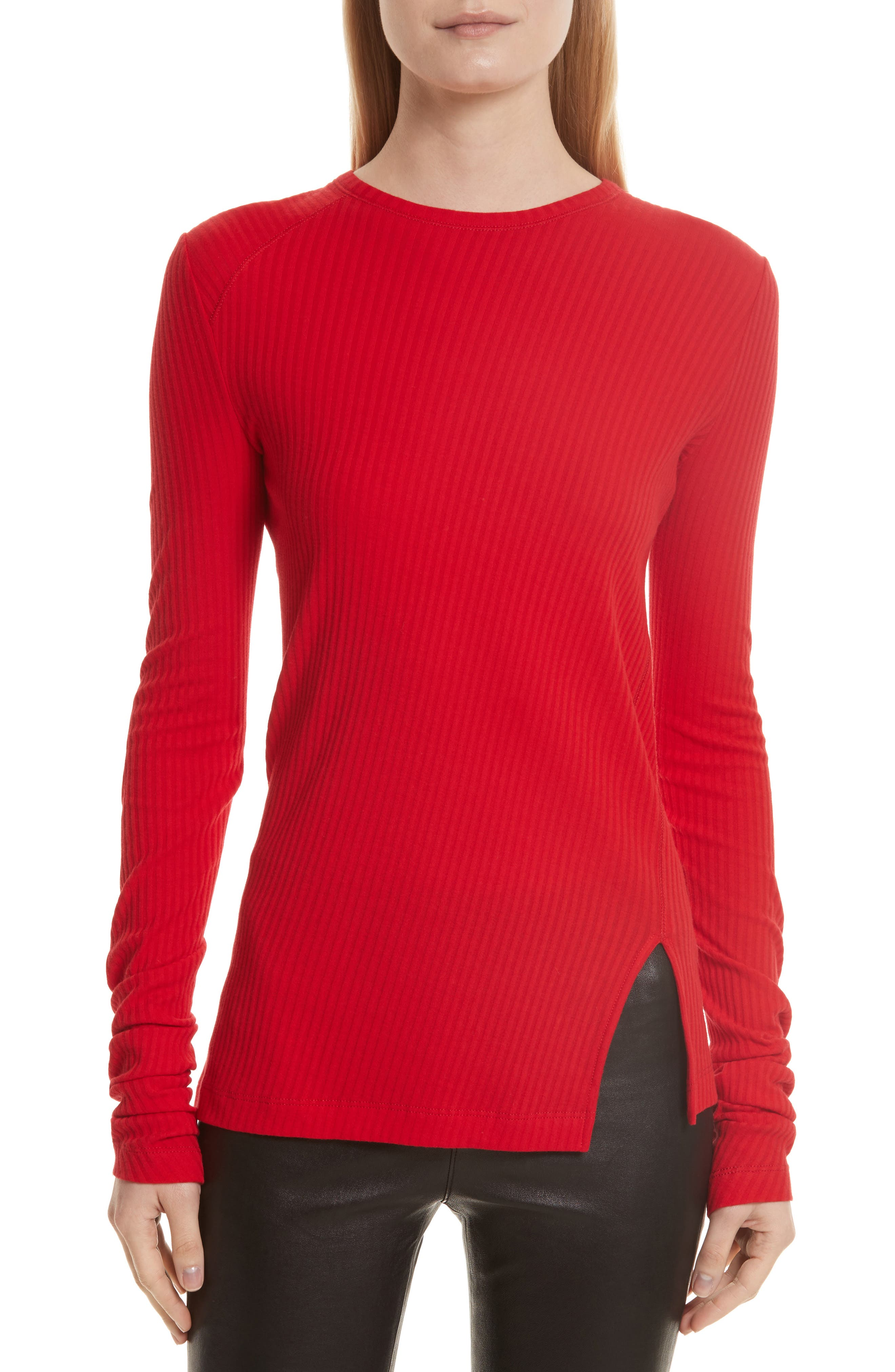 Helmut Lang Variegated Rib Knit Top