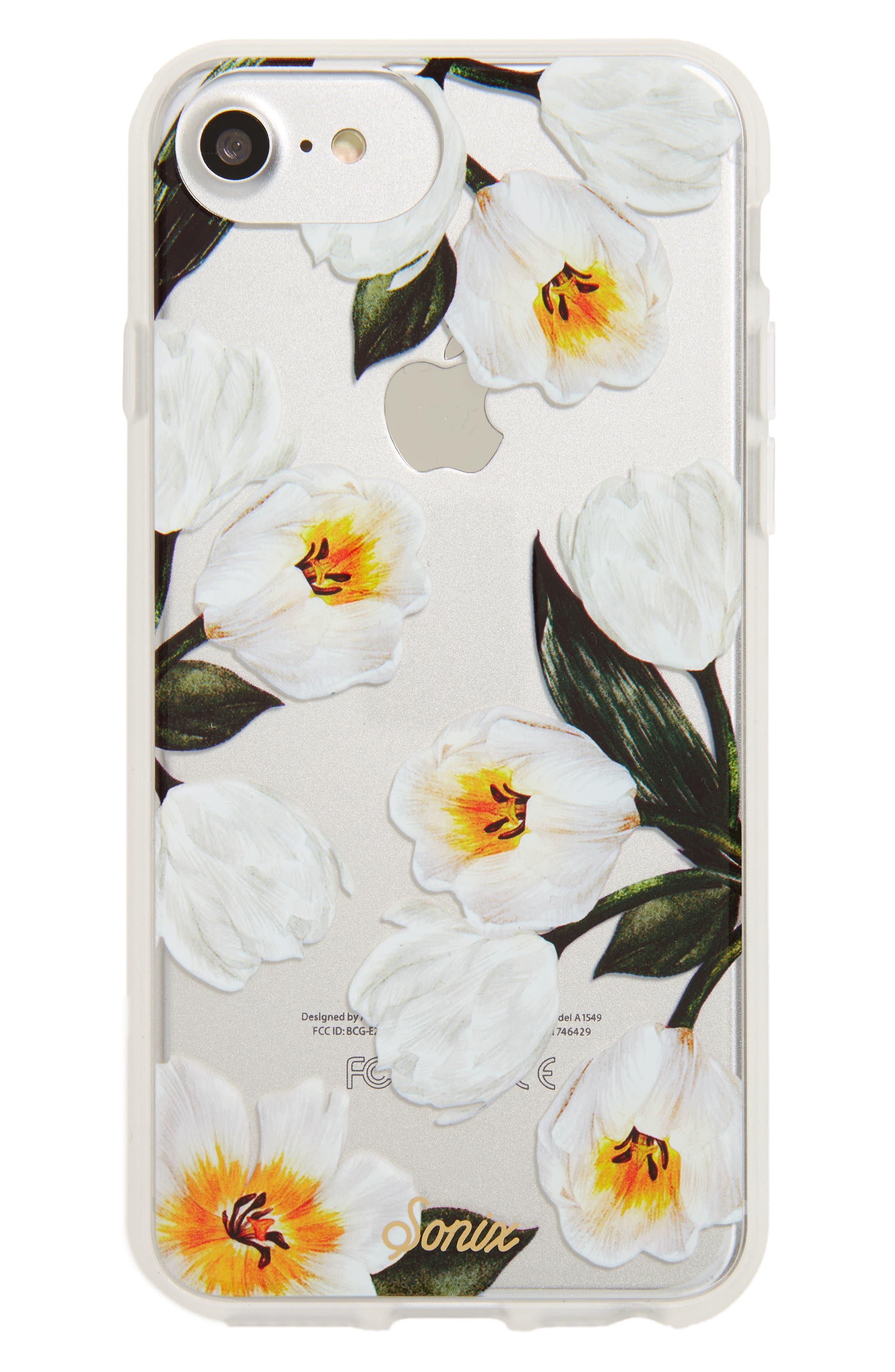 Tulip iPhone 6/6s/7/8 & 6/6s/7/8 Plus Case,                         Main,                         color, White
