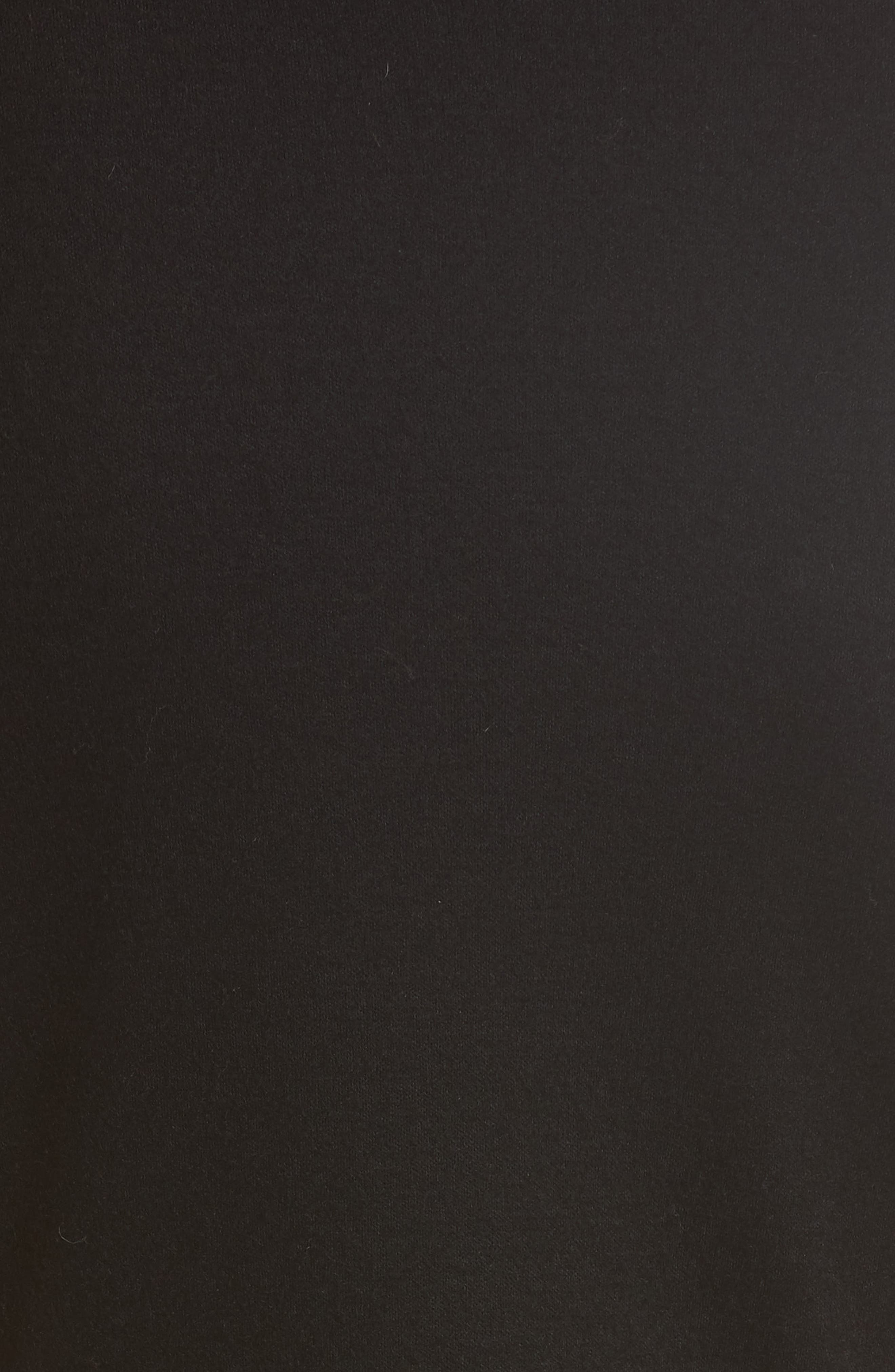 Cutout Wool Blend Dress,                             Alternate thumbnail 5, color,                             Black