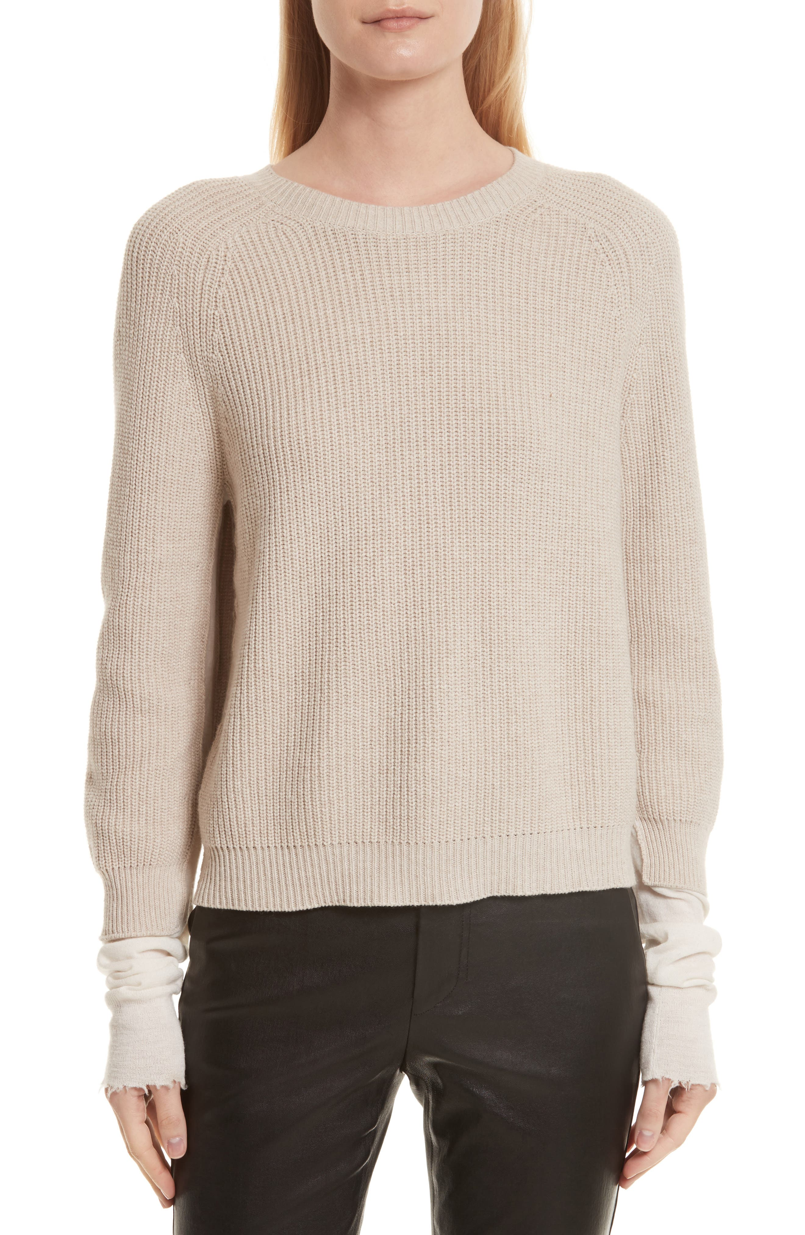 Helmut Lang Layered Rib Pullover