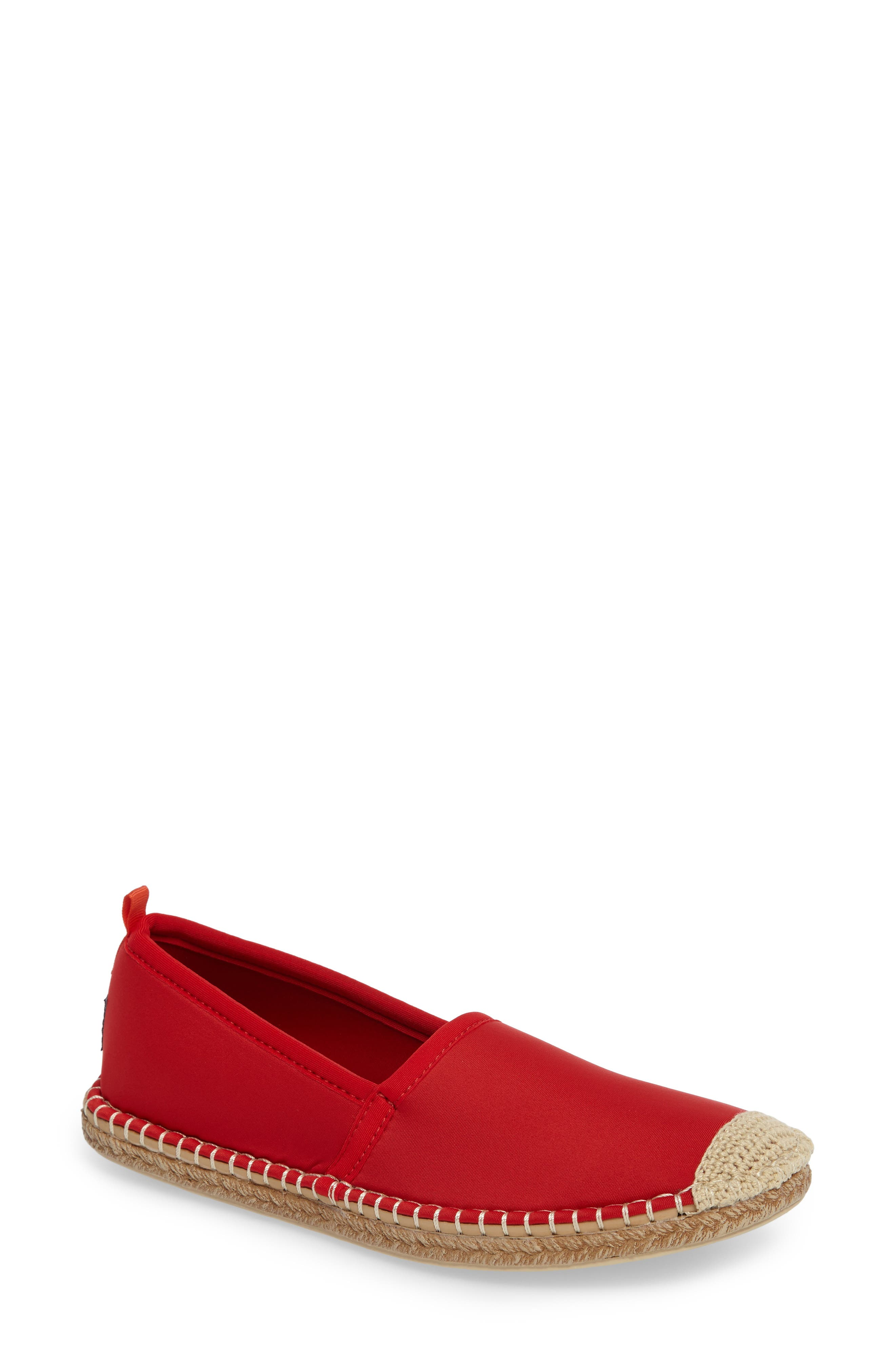 SEA STAR BEACHWEAR Sea Star Beachcomber Espadrille Water Shoe in Lighthouse Red
