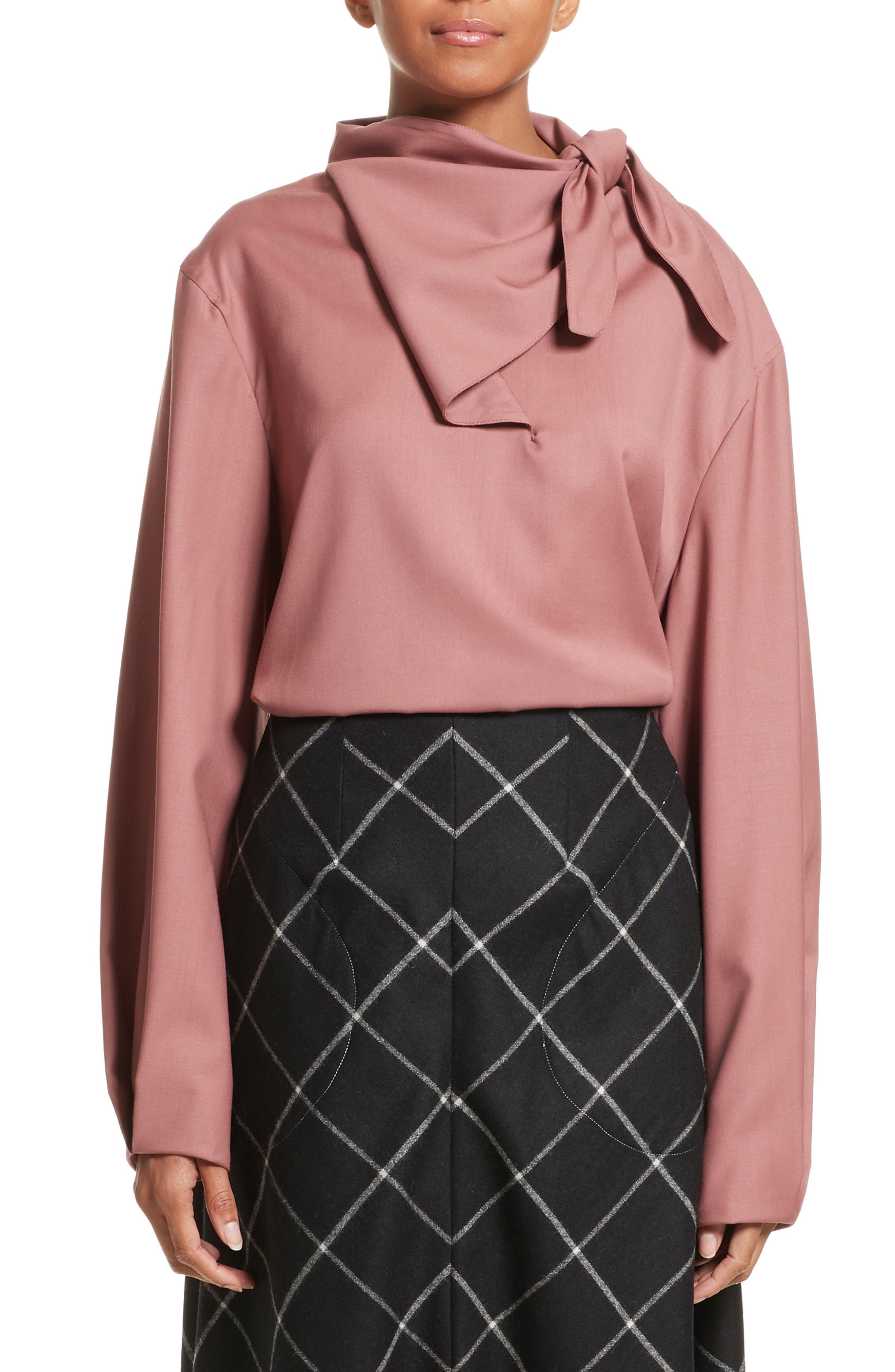Main Image - Vejas Handkerchief Tie Wool Gabardine Top