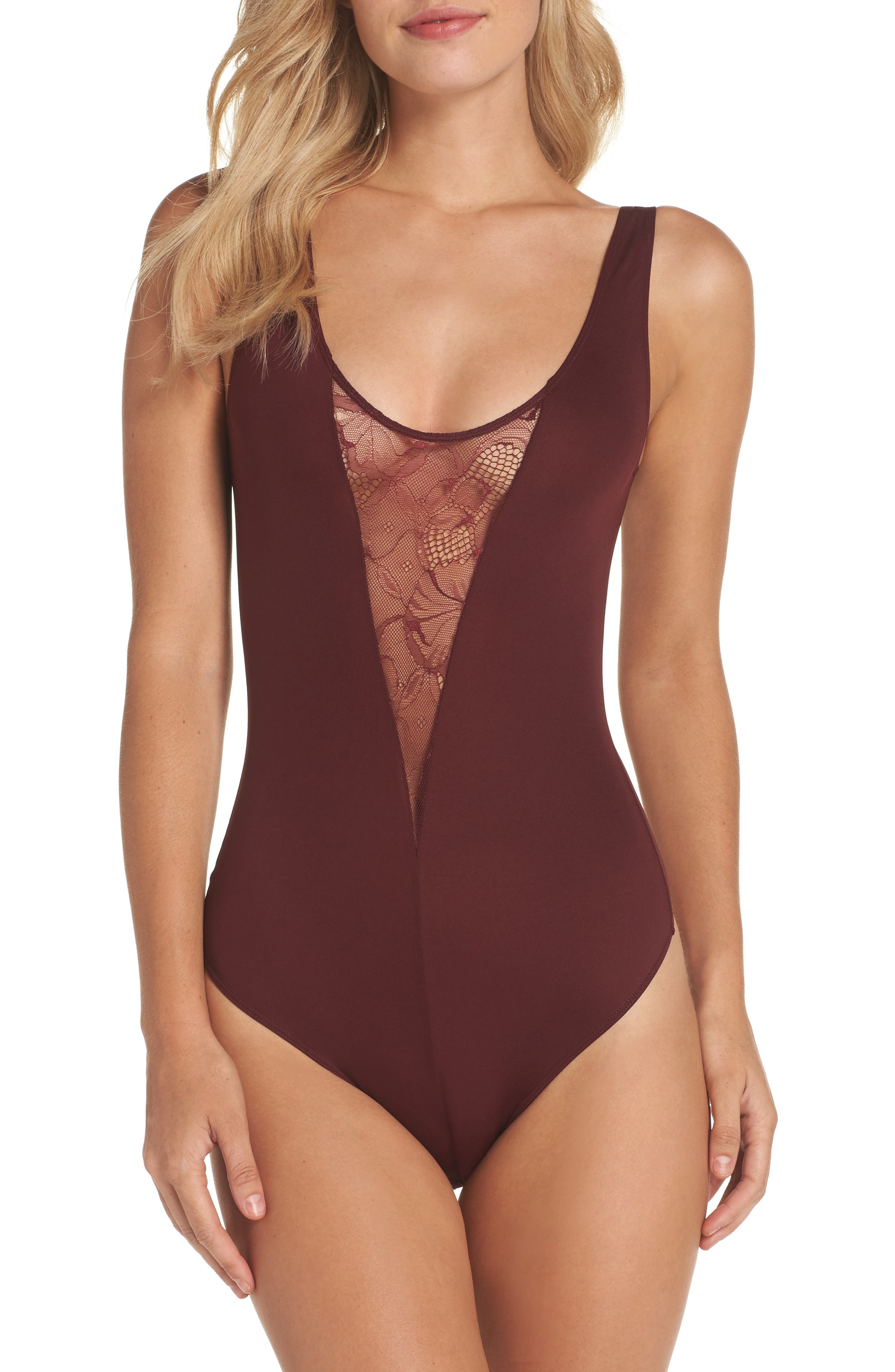 Alternate Image 1 Selected - Vince Camuto Lydia Thong Bodysuit