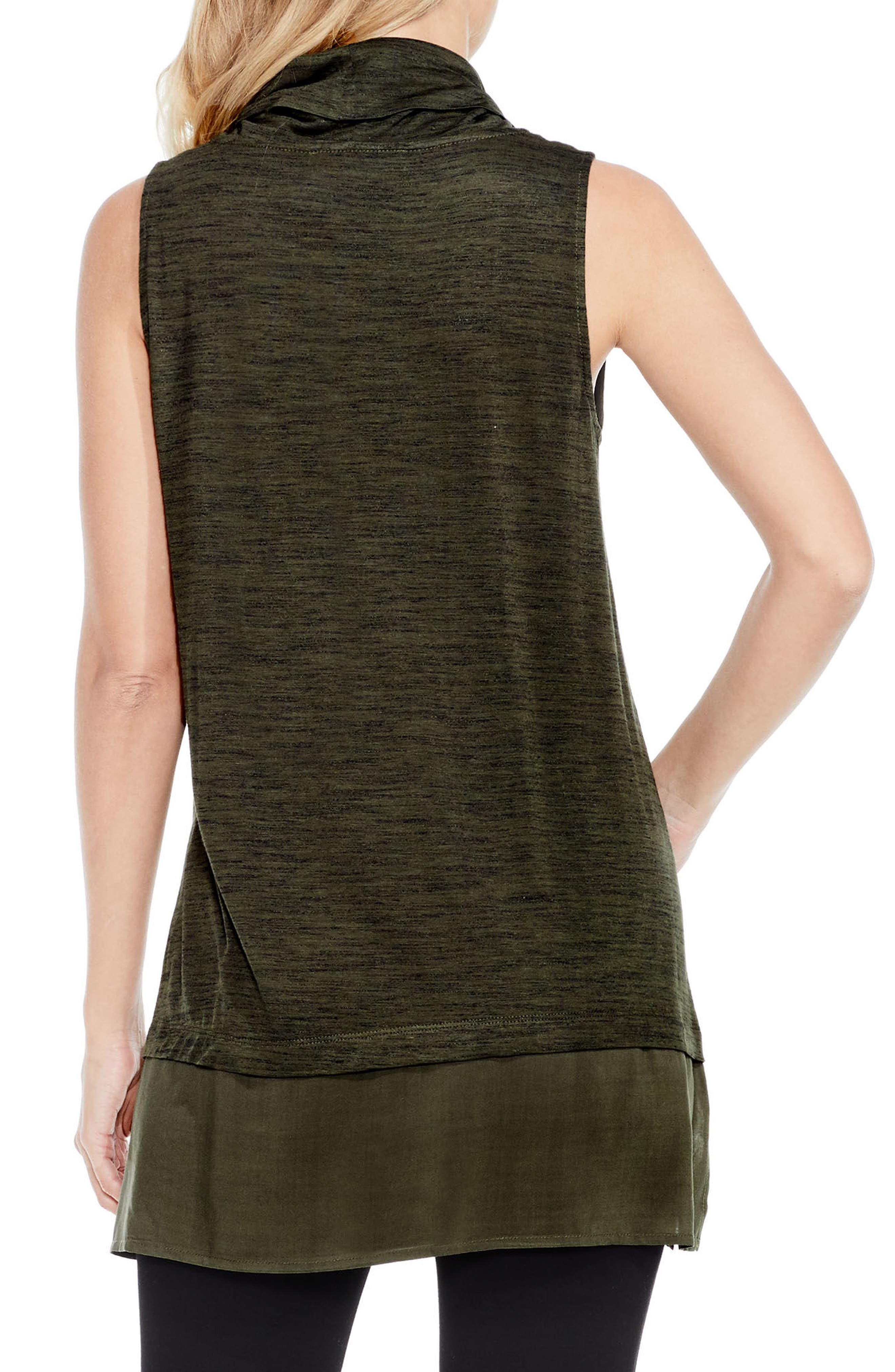 Alternate Image 2  - Two by Vince Camuto Woven Hem Tunic (Regular & Petite)