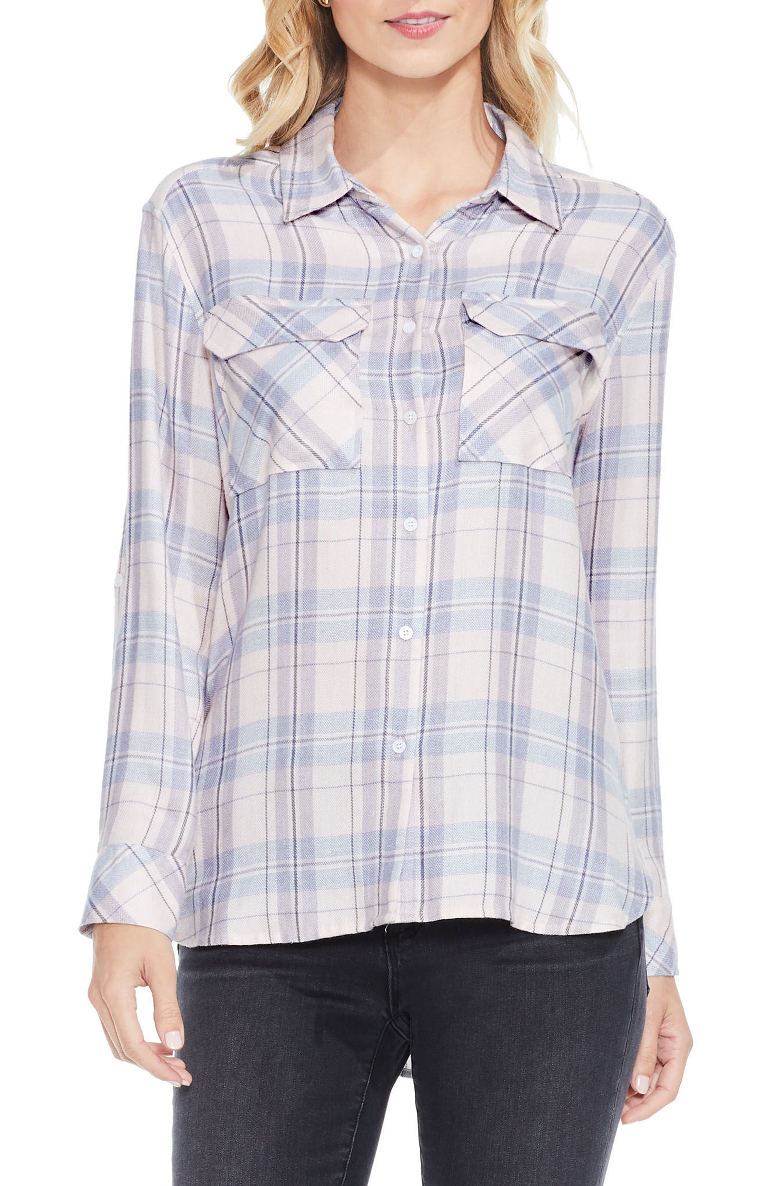 Two by Vince Camuto Daydream Plaid Shirt