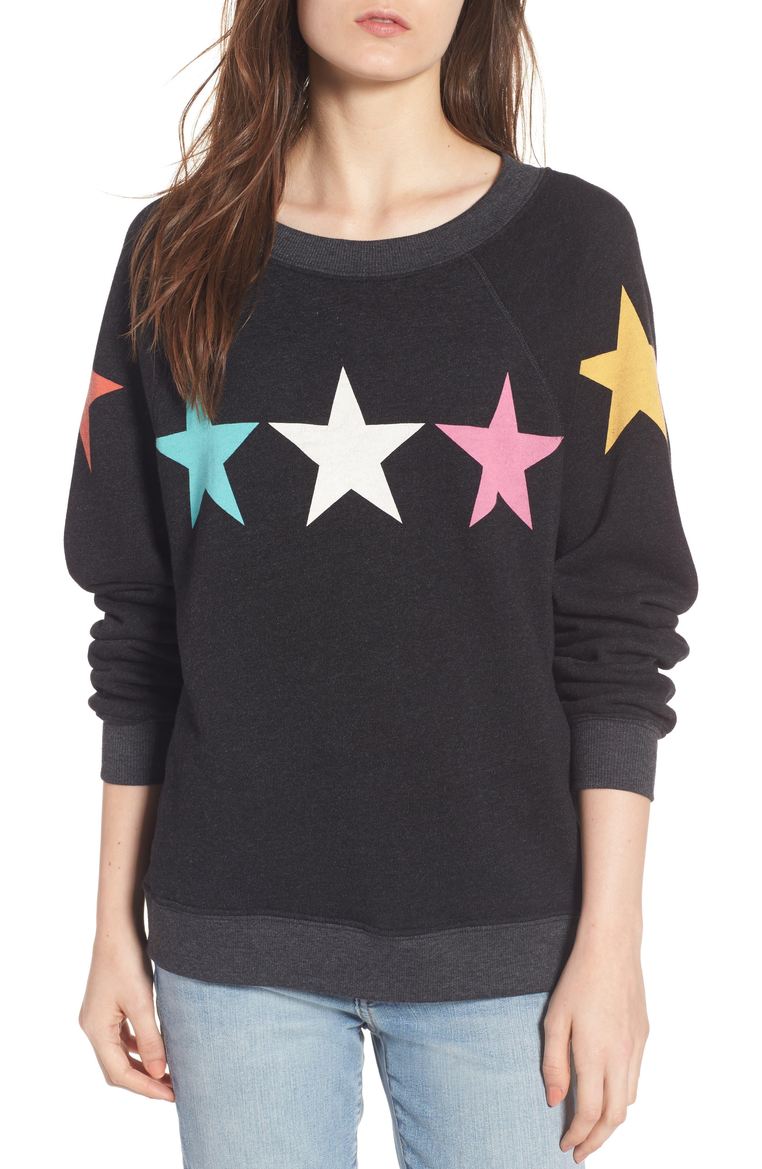 Arcade Stars Sommers Sweatshirt,                         Main,                         color, Heathered Black