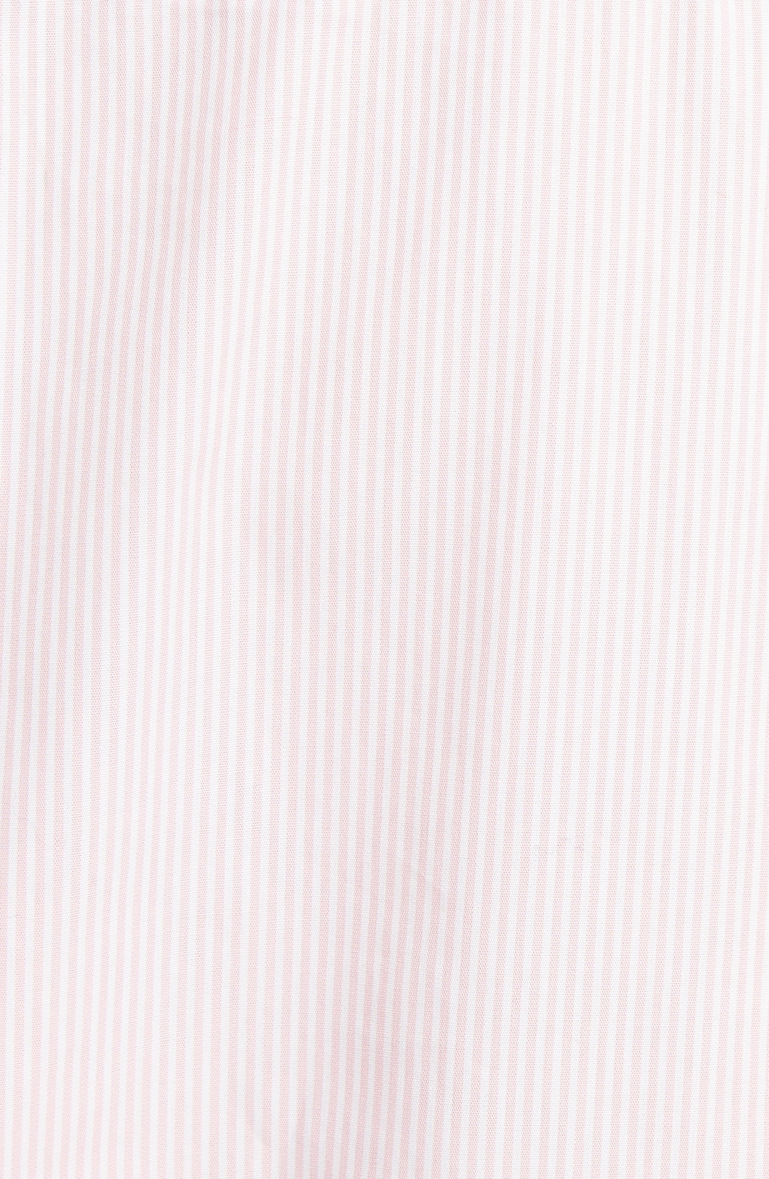 Beaded Pinstripe Shirt,                             Alternate thumbnail 5, color,                             Pink White Red