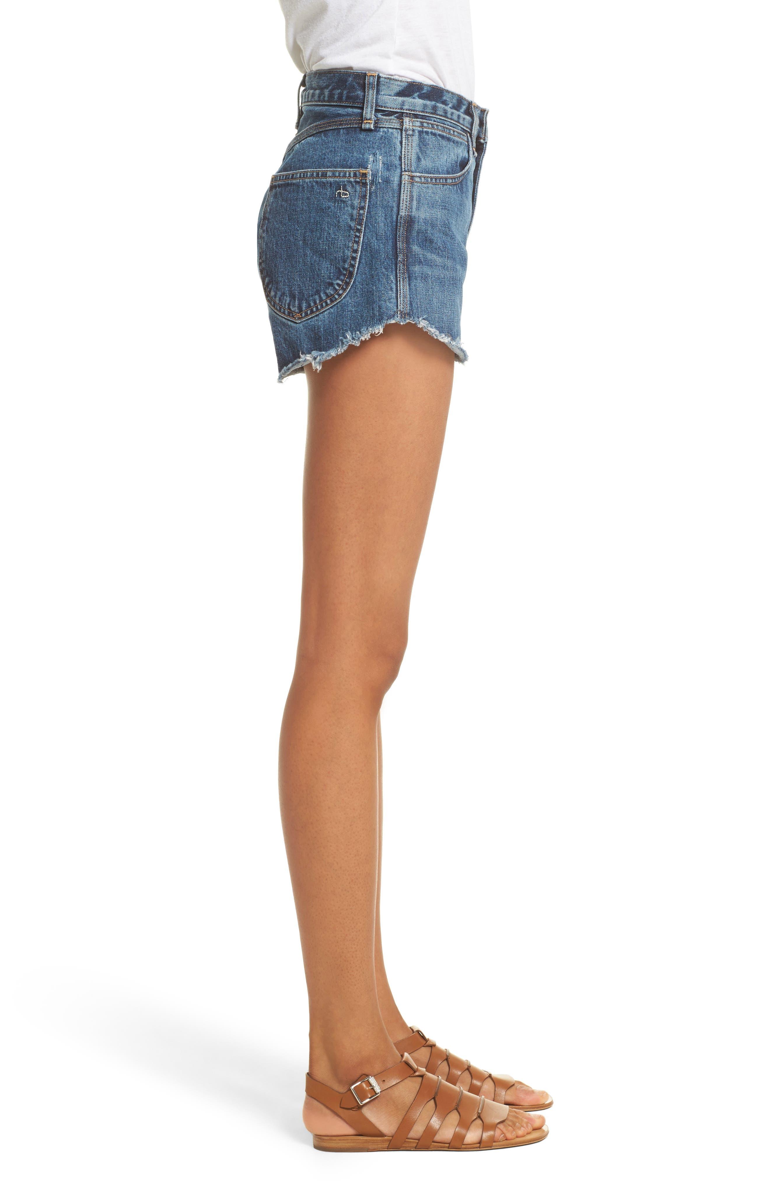 Alternate Image 3  - rag & bone/JEAN Lou High Waist Cutoff Denim Shorts