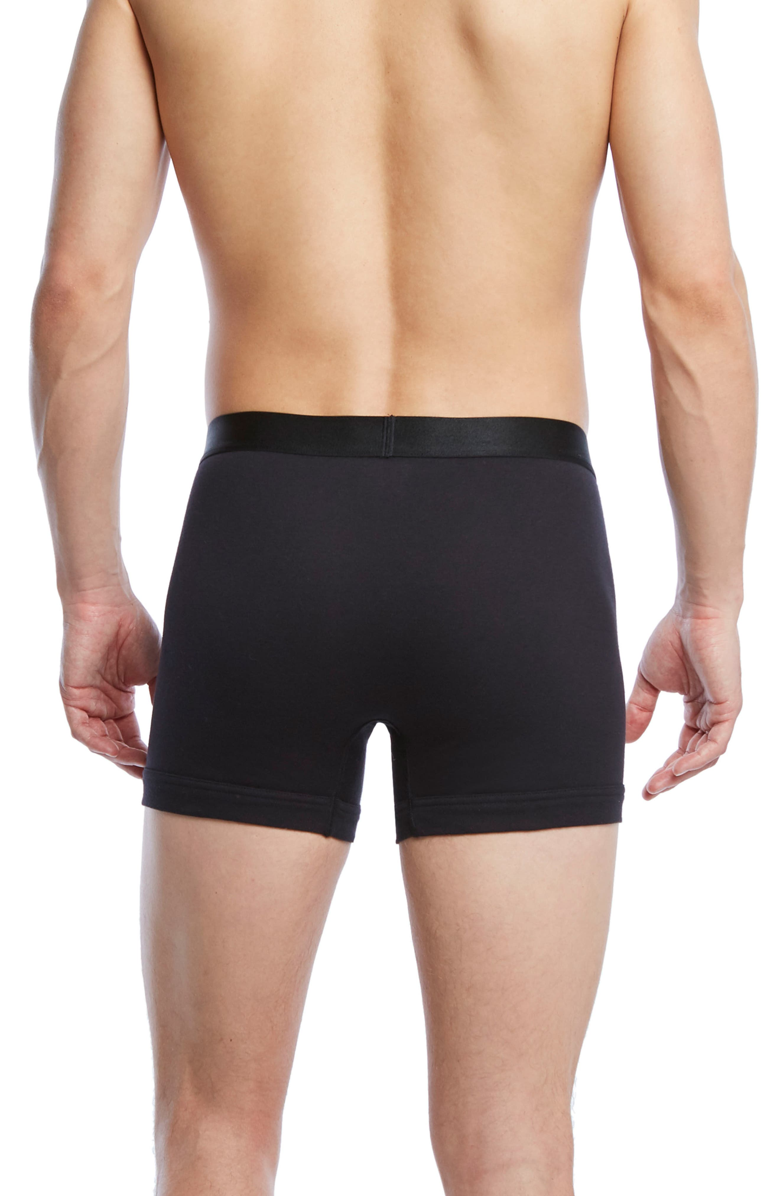 Pima Cotton Boxer Briefs,                             Alternate thumbnail 2, color,                             Black/ Black/ Black
