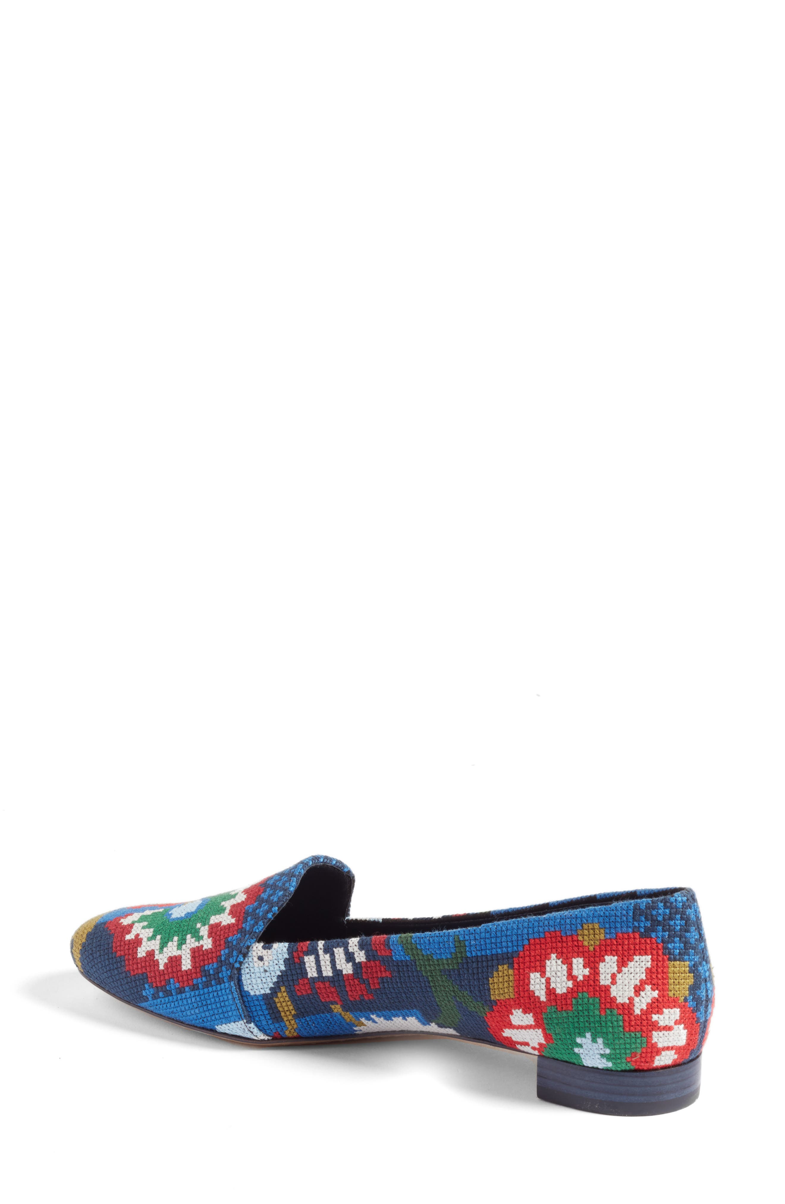 Alternate Image 2  - Tory Burch Sadie Floral Cross Stitch Loafer (Women)