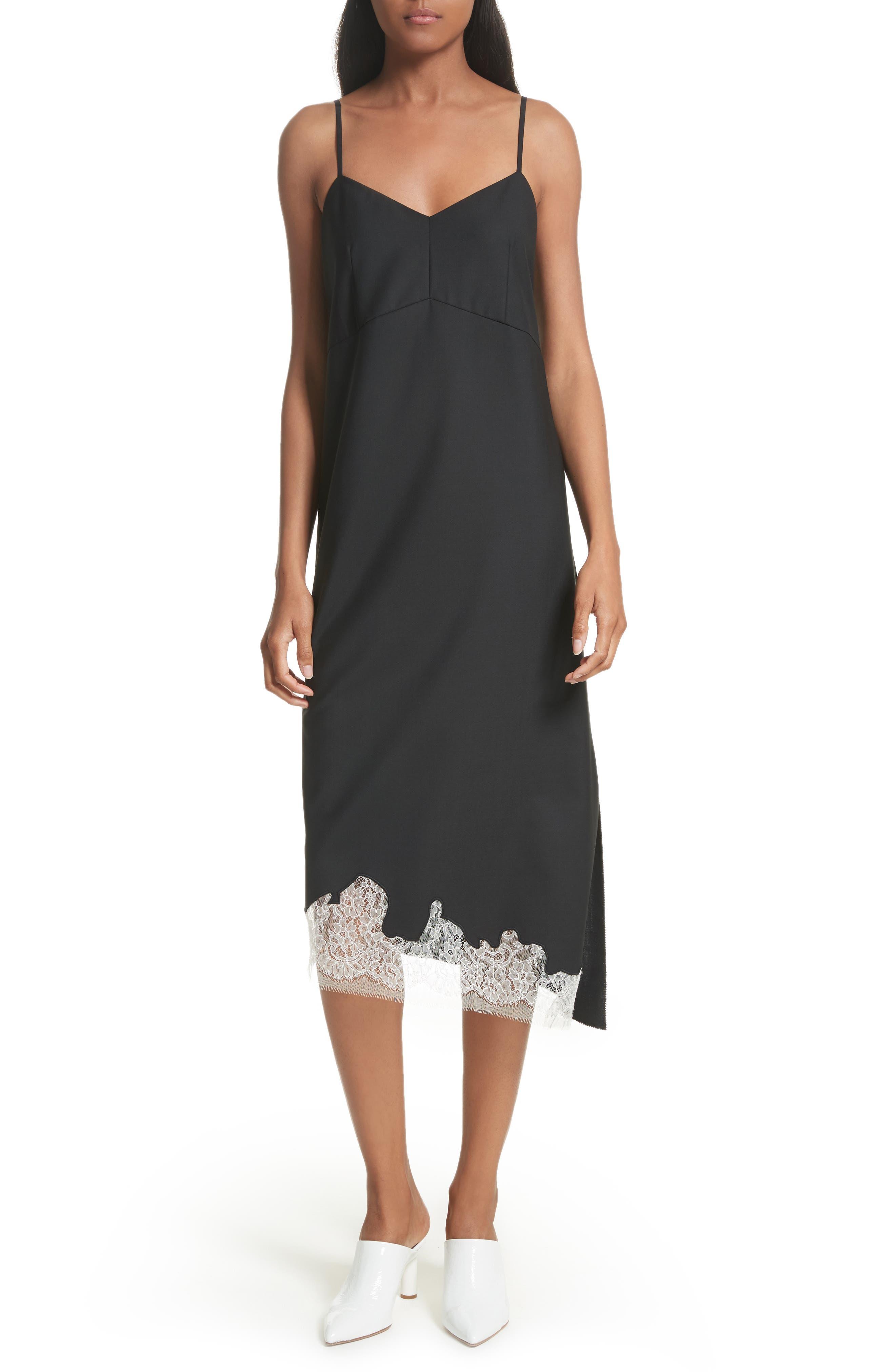 Lou Lou Appliqué Dress,                             Main thumbnail 1, color,                             Black