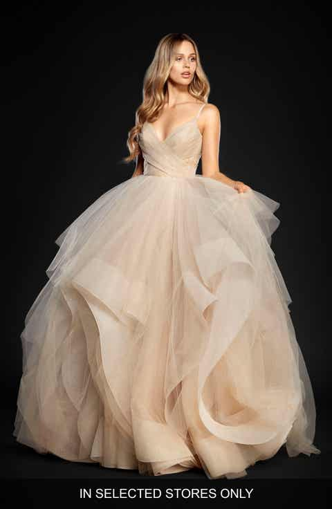 Women\'s Beige Ball Gown Wedding Dresses & Bridal Gowns | Nordstrom