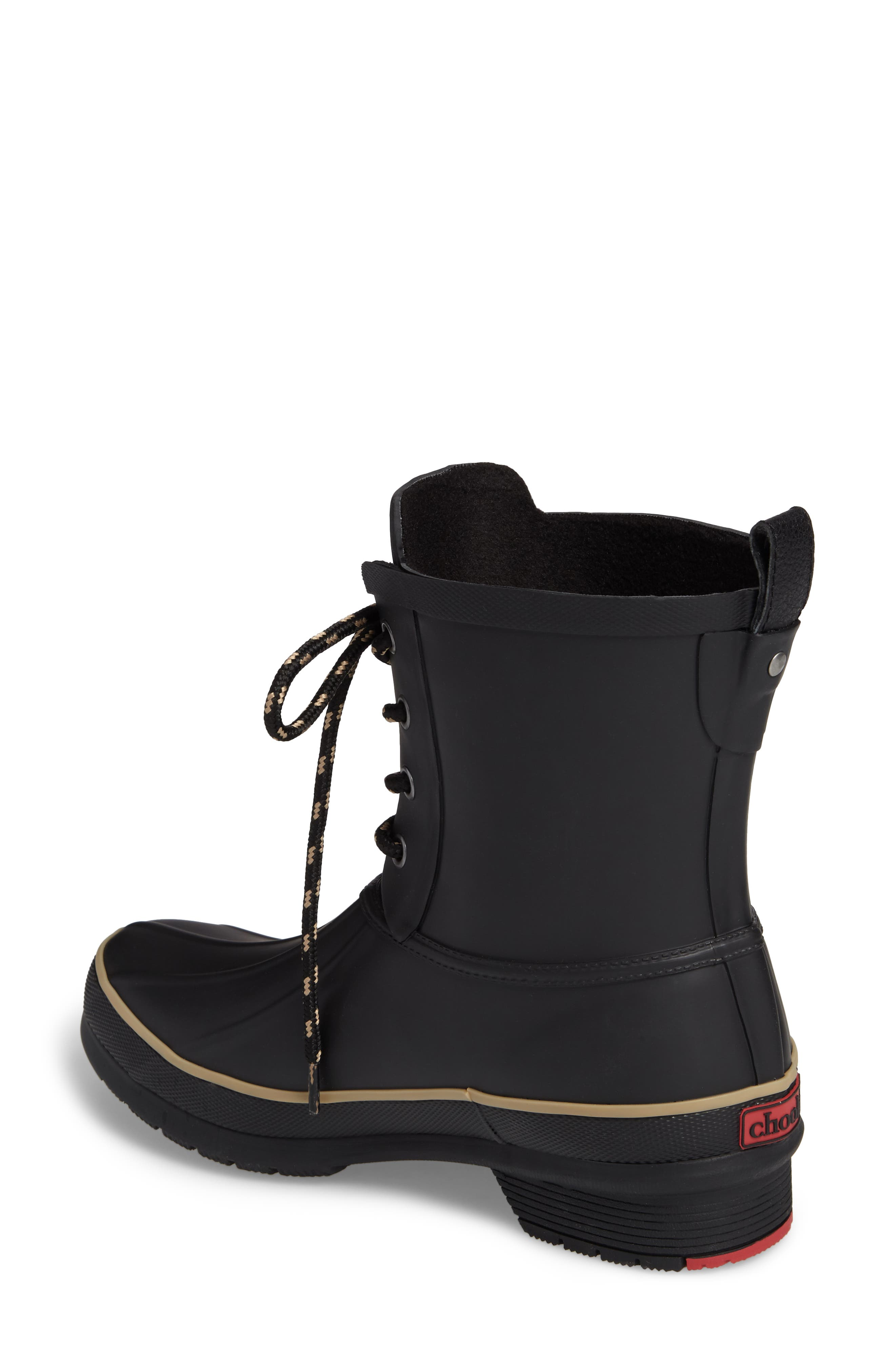 Classic Lace-Up Duck Boot,                             Alternate thumbnail 2, color,                             Black
