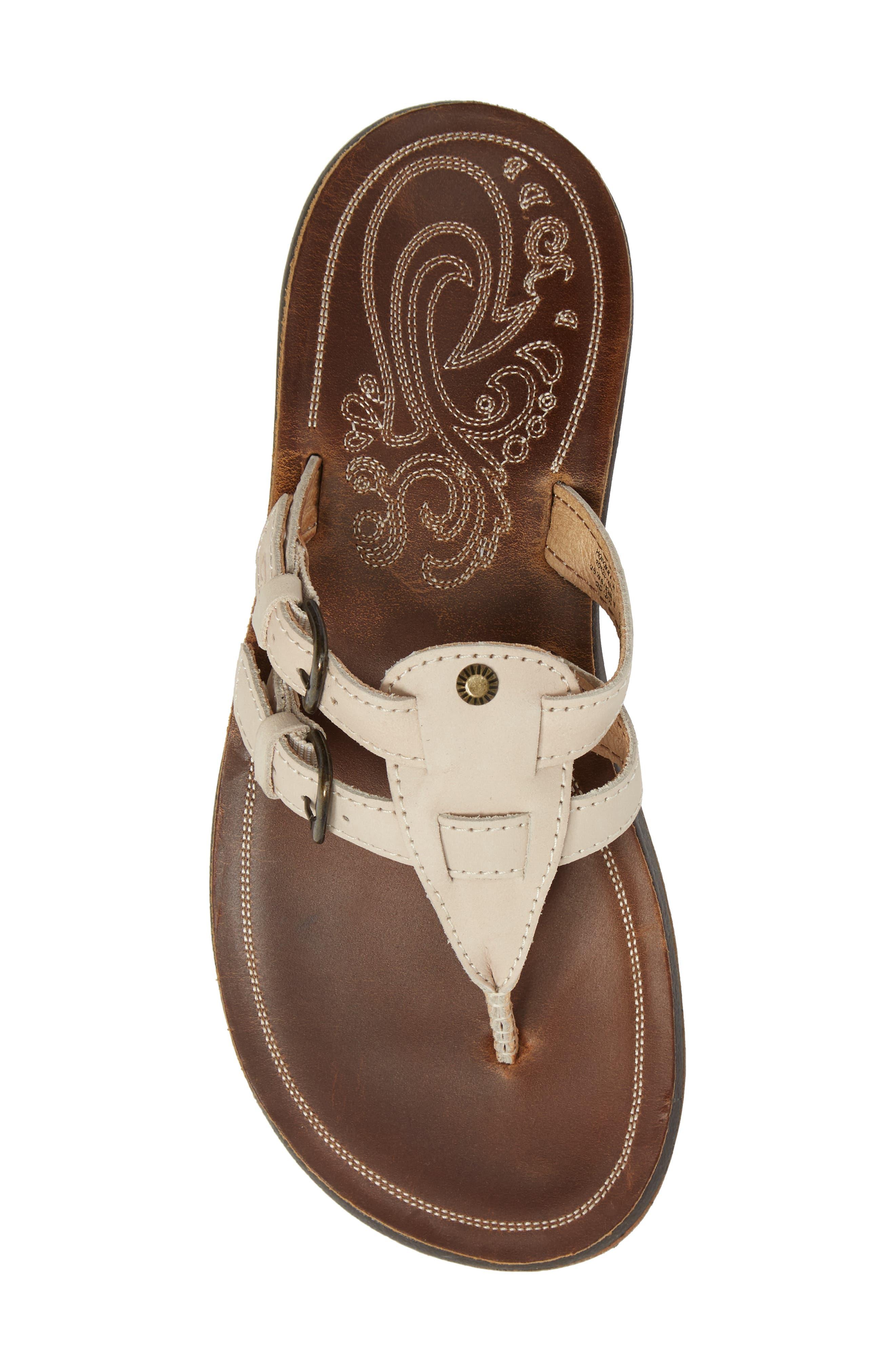 Honoka'a Buckle Flip Flop,                             Alternate thumbnail 5, color,                             Tapa/ Sahara Leather