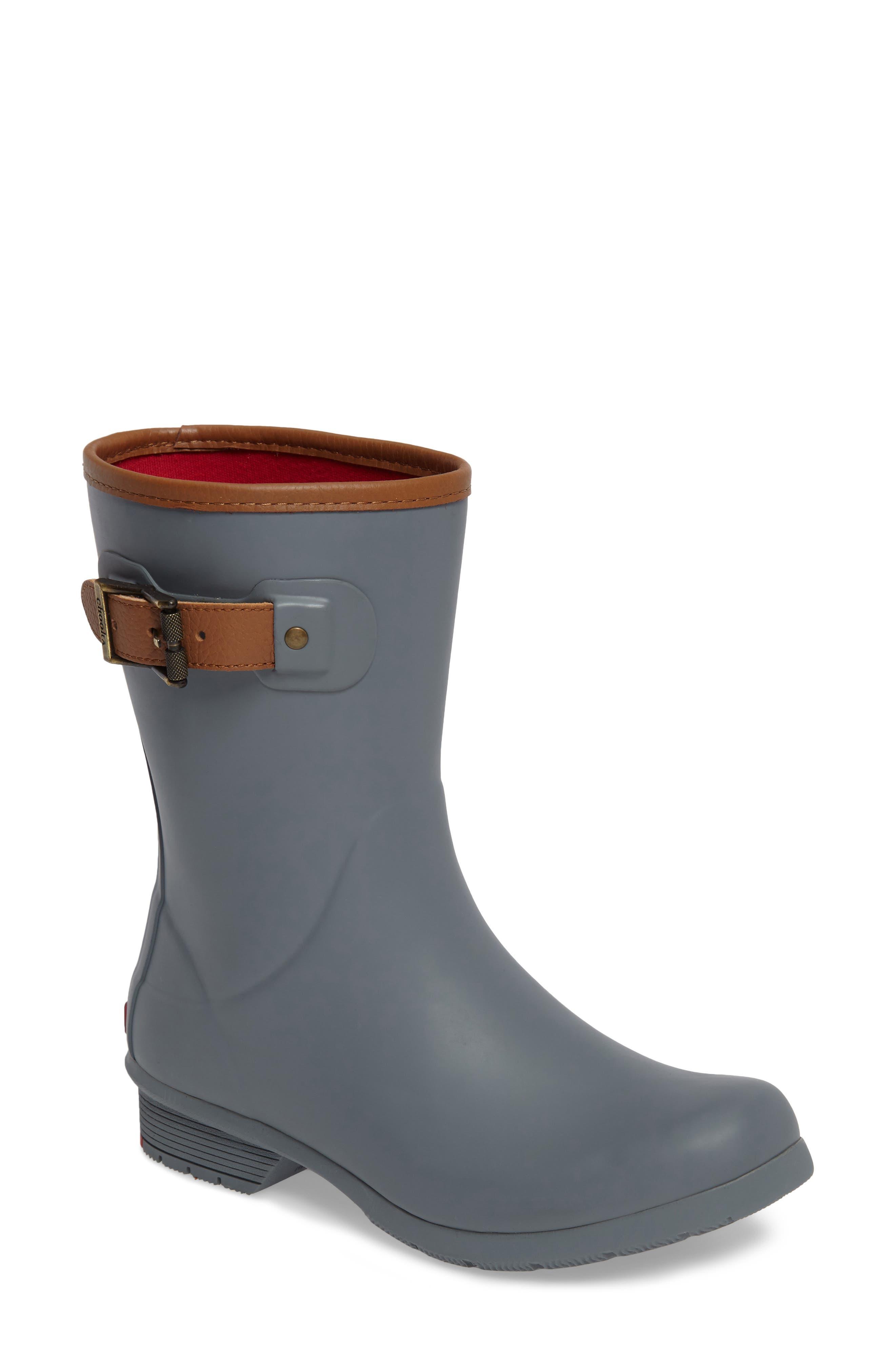 Alternate Image 1 Selected - Chooka City Solid Mid Height Rain Boot (Women)